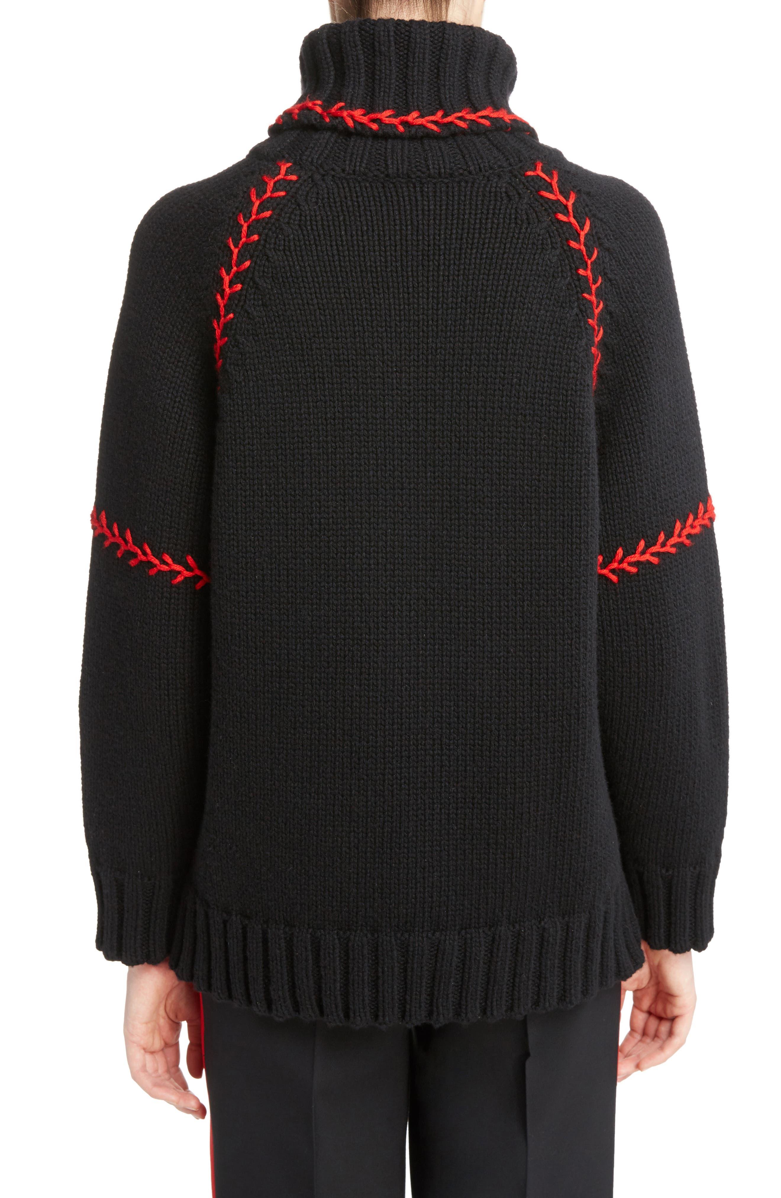 Alternate Image 3  - Alexander McQueen Stitch Detail Cashmere Turtleneck Sweater