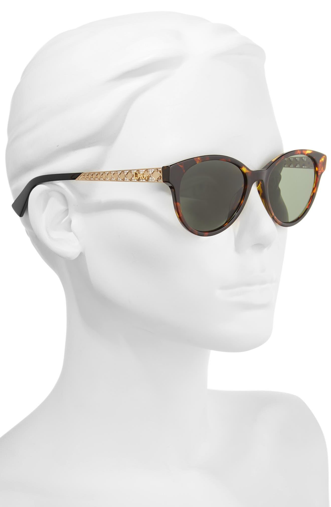 Diorama Mini 52mm Mirrored Lens Special Fit Sunglasses,                             Alternate thumbnail 2, color,                             Havana/ Gold