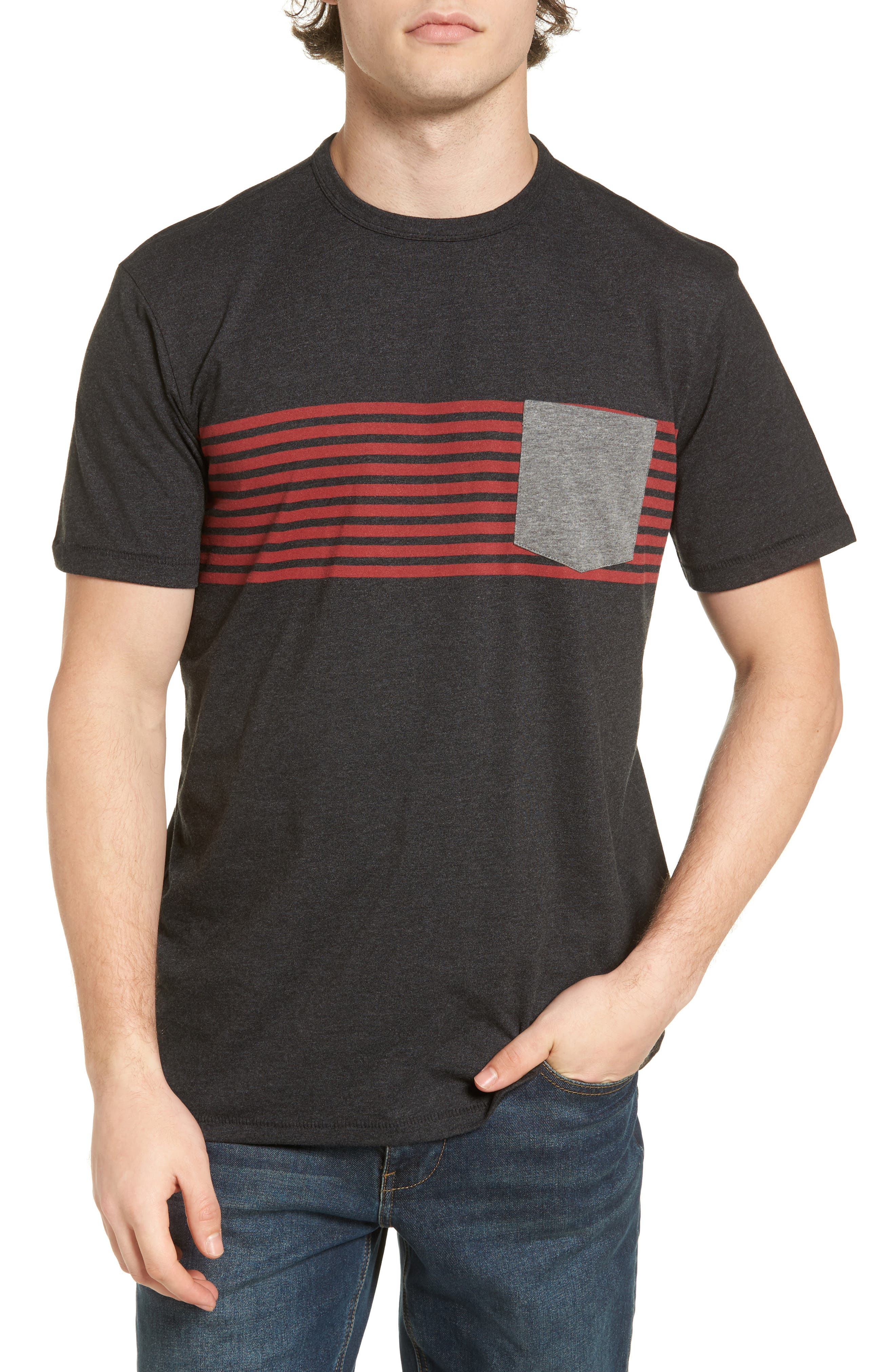 Alternate Image 1 Selected - O'Neill Rodgers Striped Pocket T-Shirt