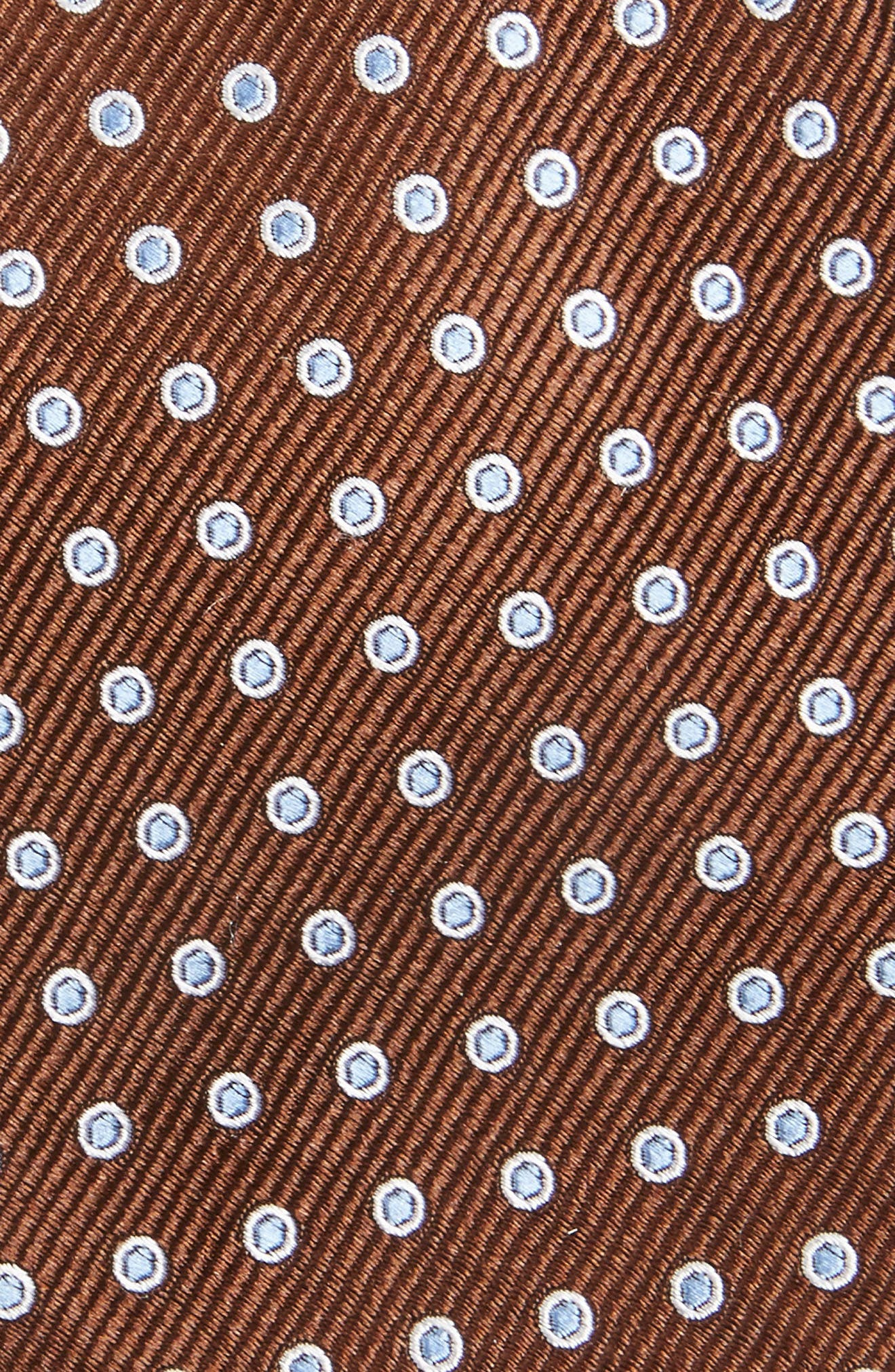Halo Dot Silk Tie,                             Alternate thumbnail 2, color,                             Brown