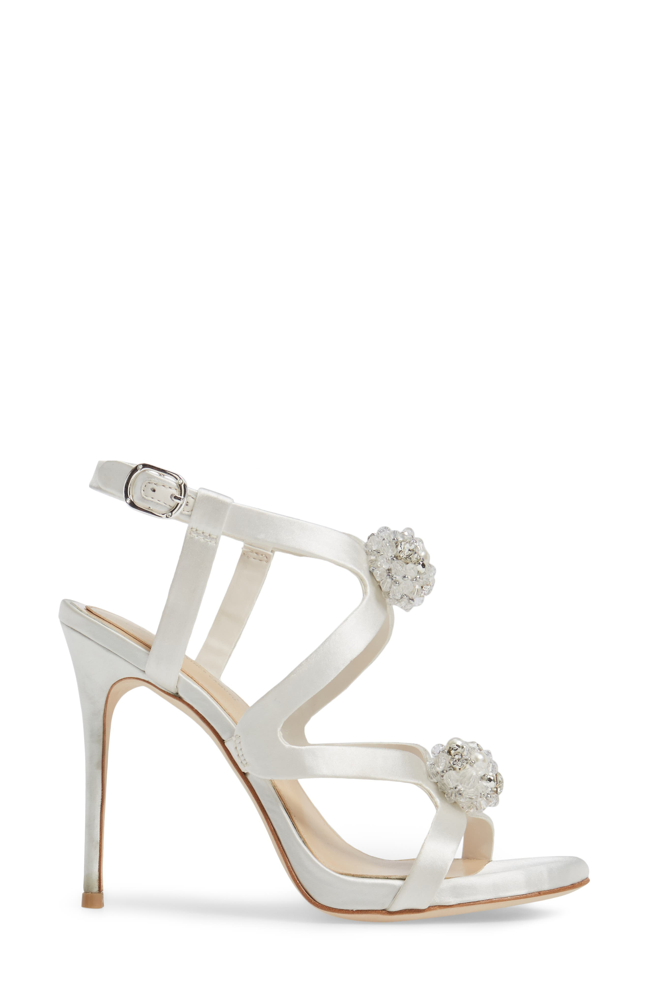 Daija Sandal,                             Alternate thumbnail 3, color,                             Ivory Satin