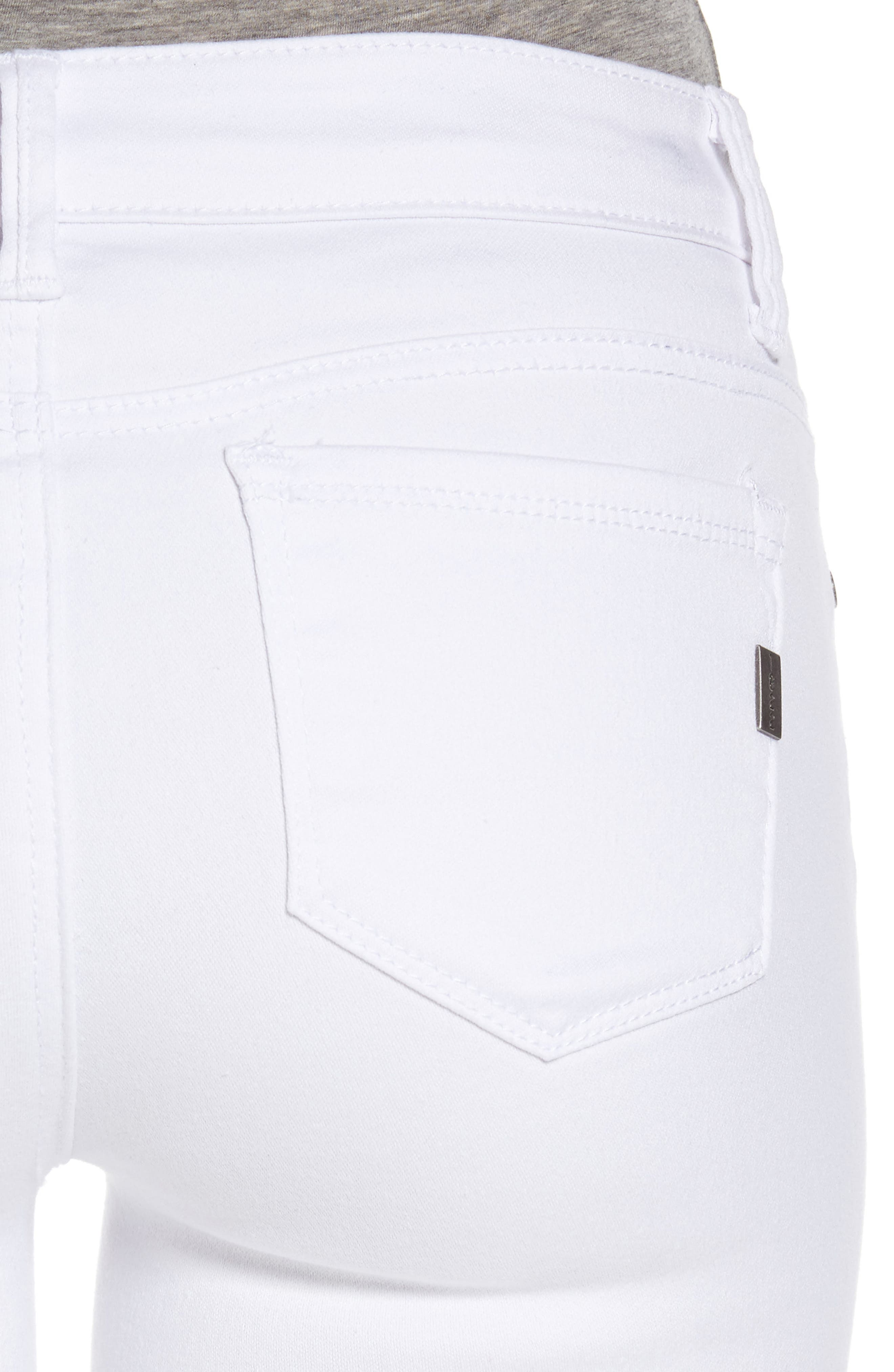 1822 Butter Skinny Jeans,                             Alternate thumbnail 4, color,                             Wht