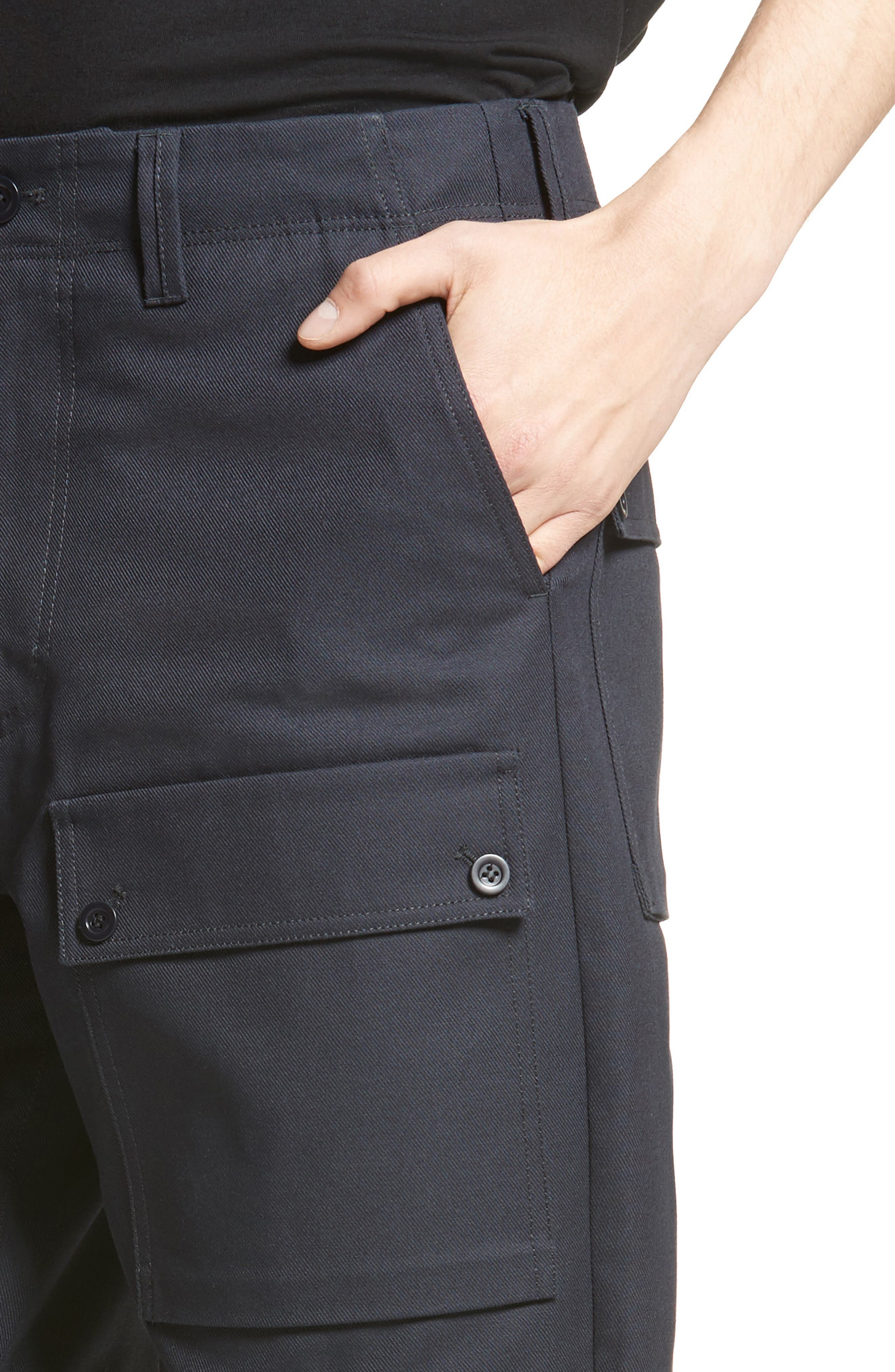 Abbi Twill Cargo Pants,                             Alternate thumbnail 4, color,                             Navy