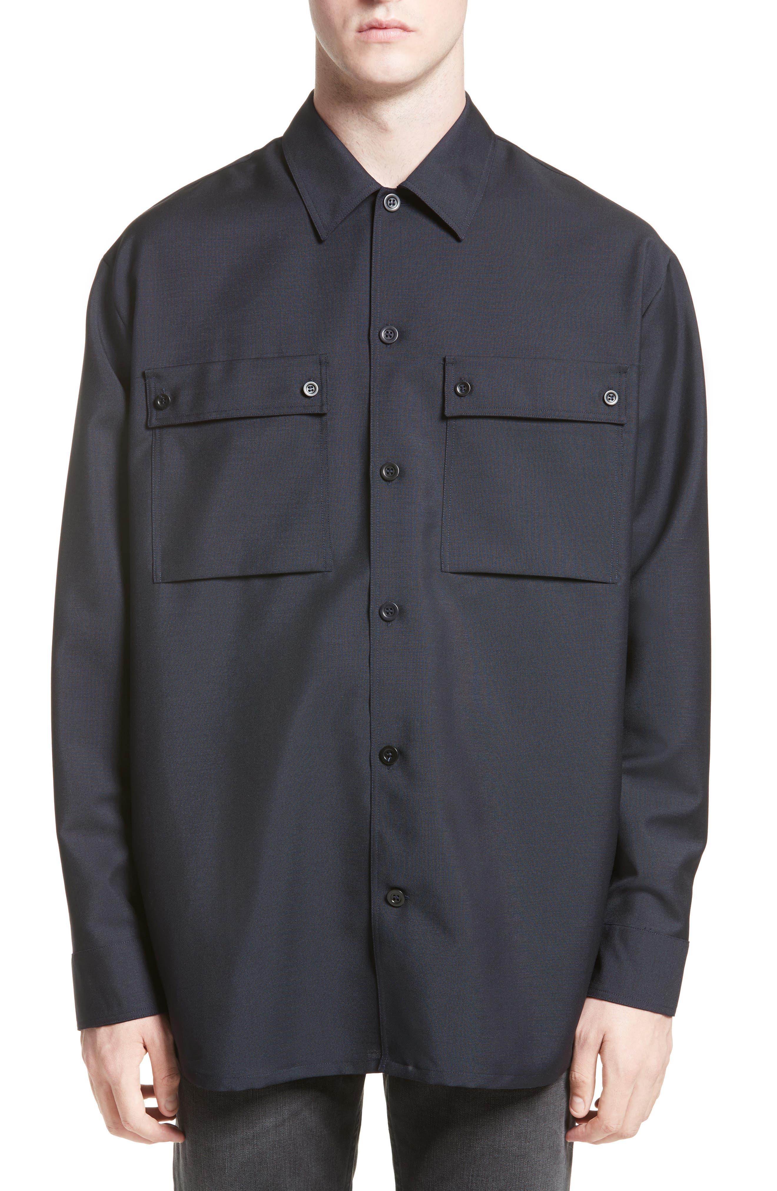 Houston Double Pocket Shirt,                         Main,                         color, Navy