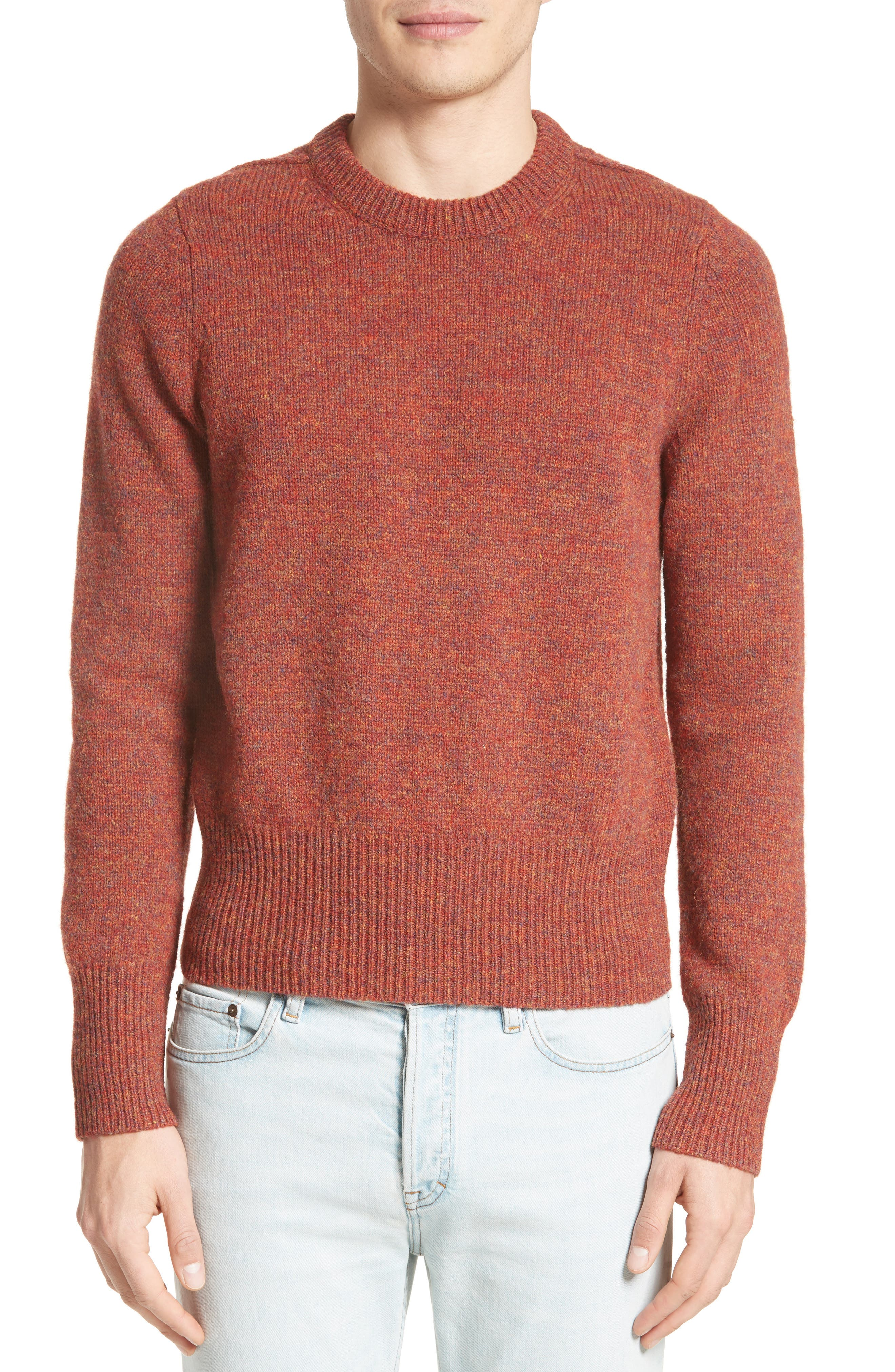 Kai Mélange Wool Sweater,                         Main,                         color, Rust Melange