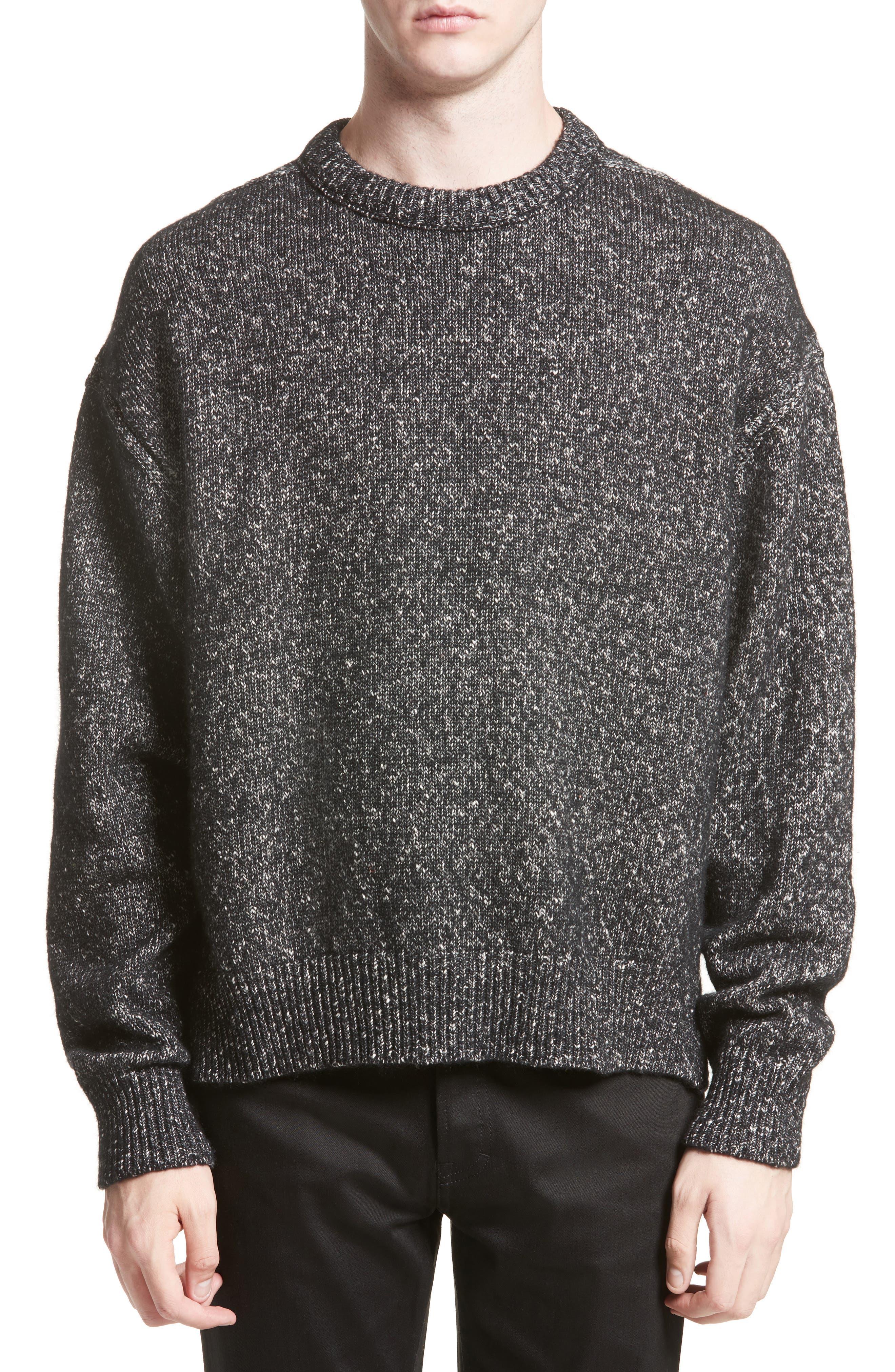 Nole Mélange Sweater,                             Main thumbnail 1, color,                             Black
