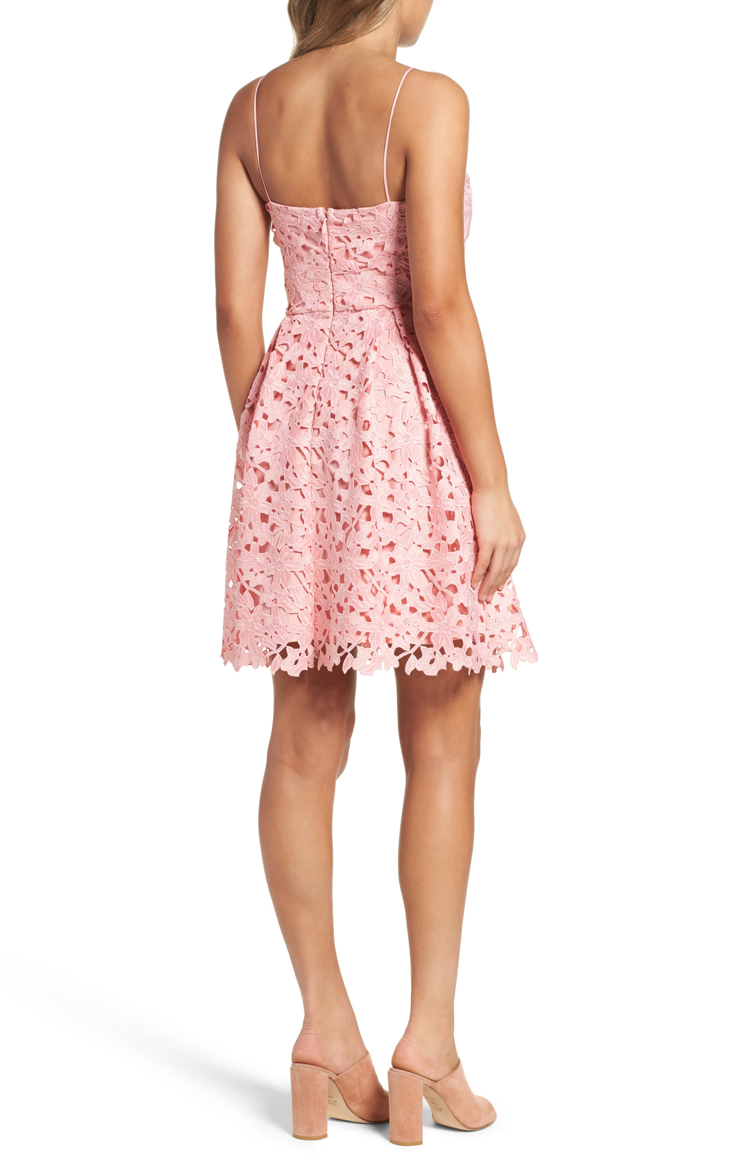 Alternate Image 2  - Adelyn Rae Lace Fit & Flare Dress
