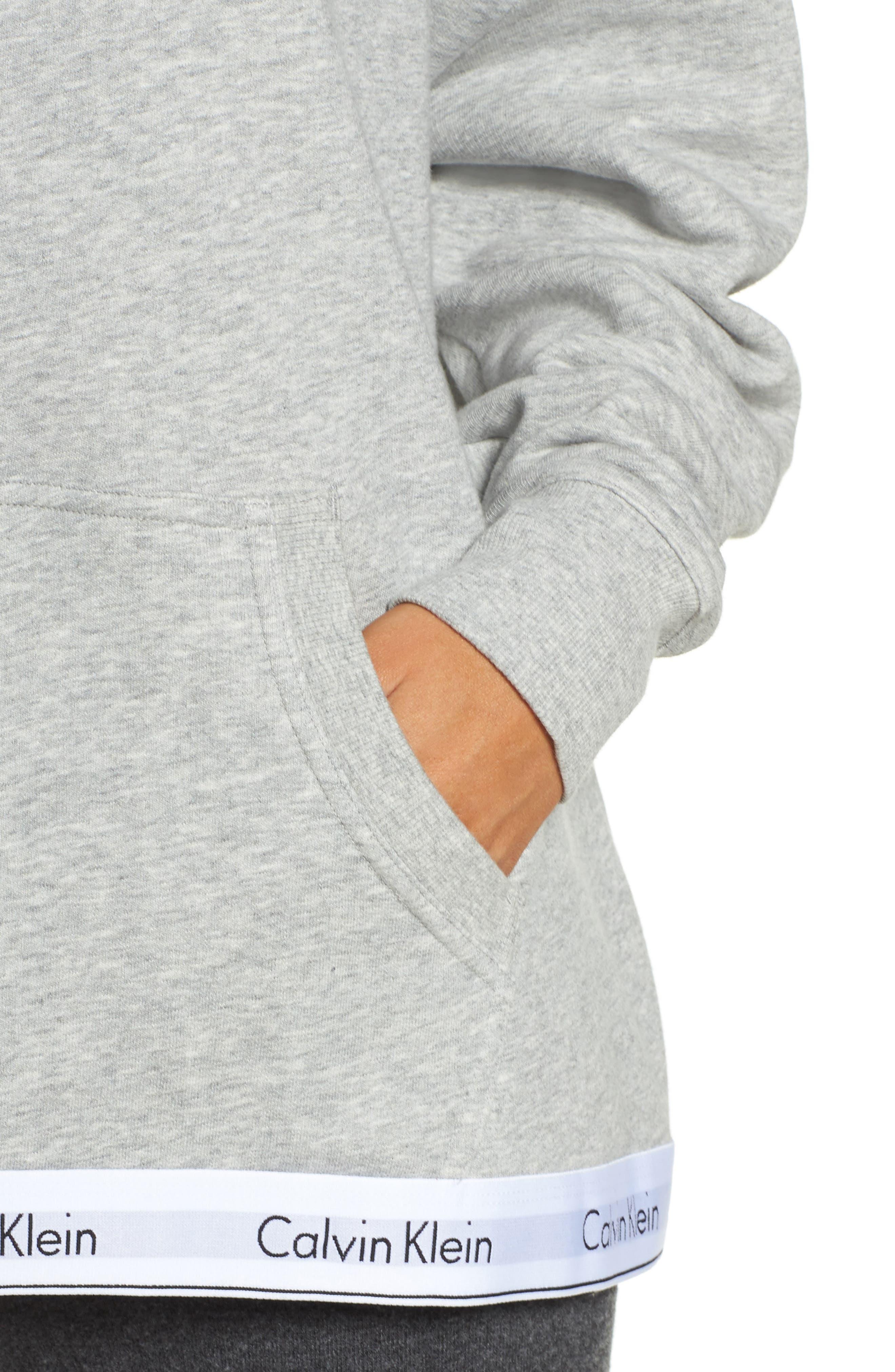 Alternate Image 4  - Calvin Klein Modern Cotton Lounge Hoodie