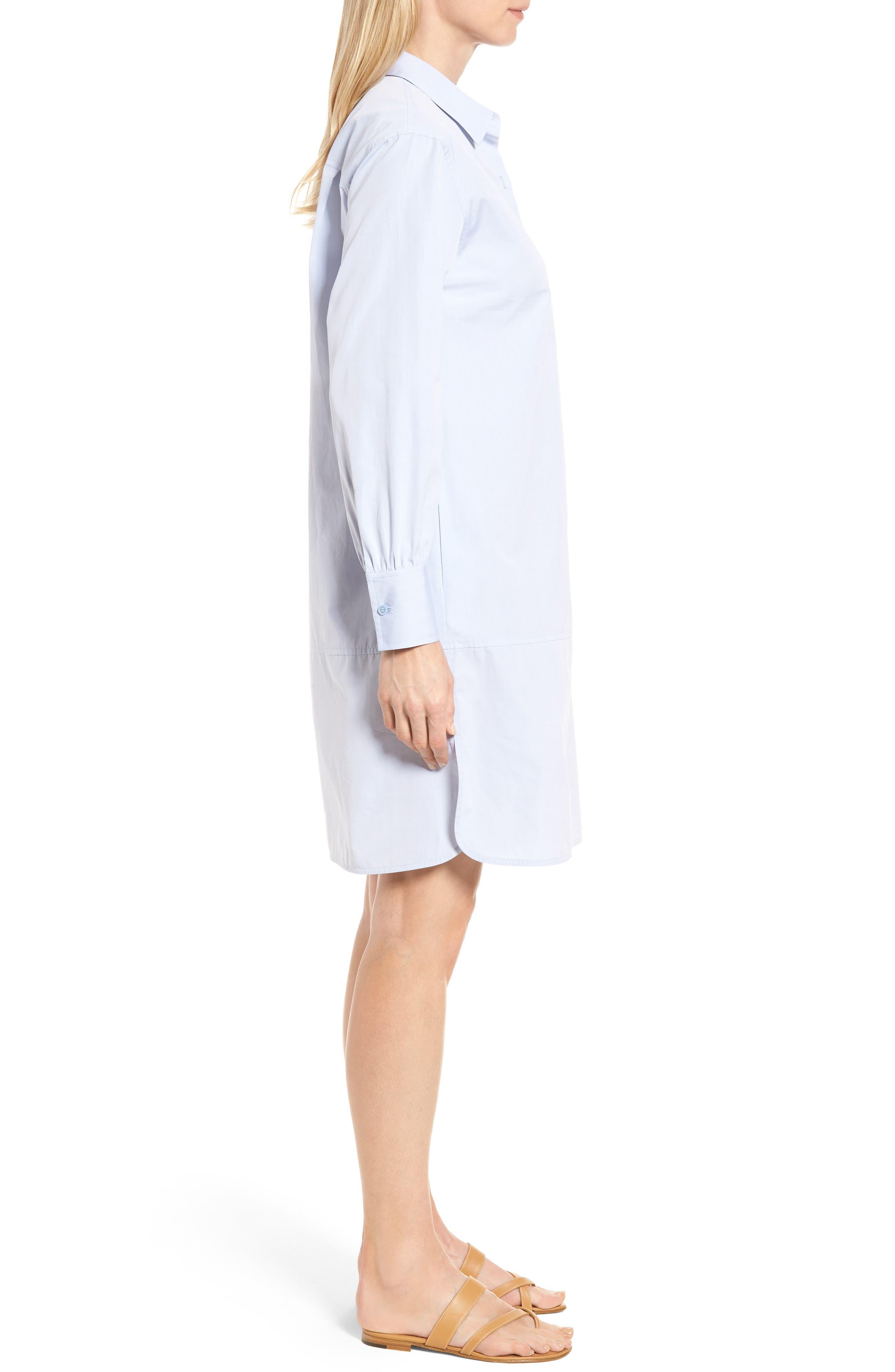 Alternate Image 3  - Nordstrom Signature Solid Poplin Shirtdress