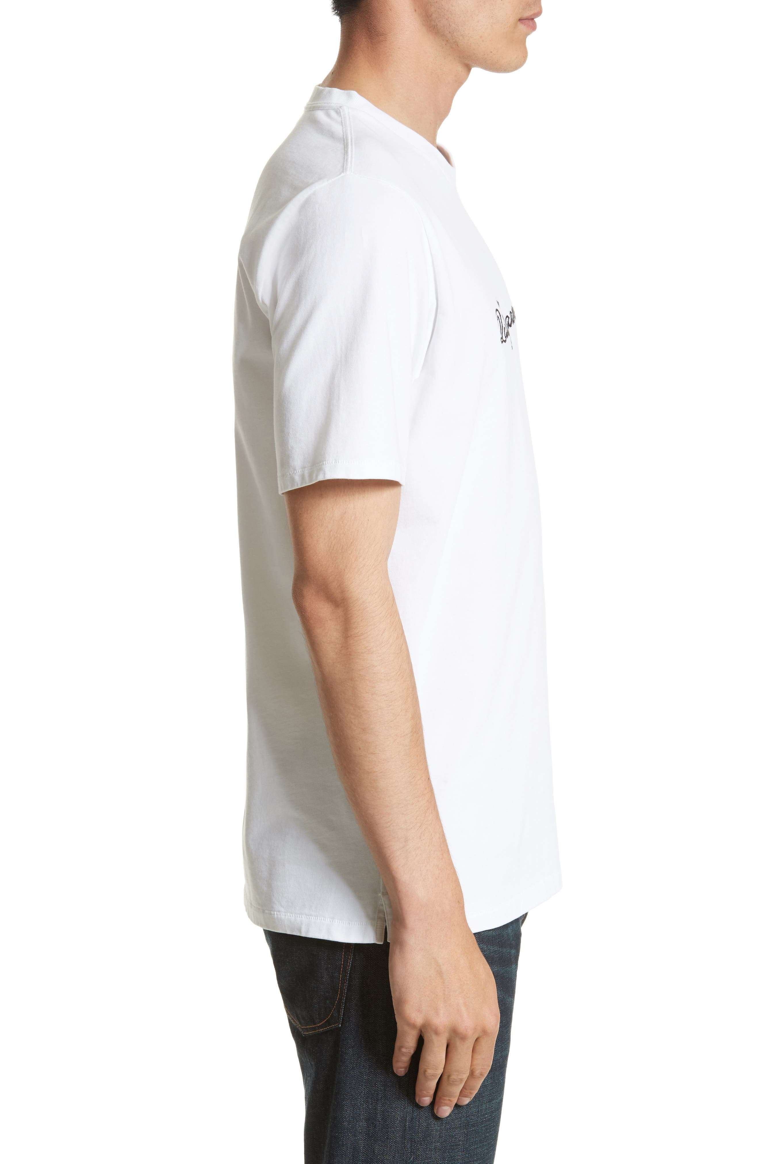 Quality Guaranteed Embroidered T-Shirt,                             Alternate thumbnail 3, color,                             White