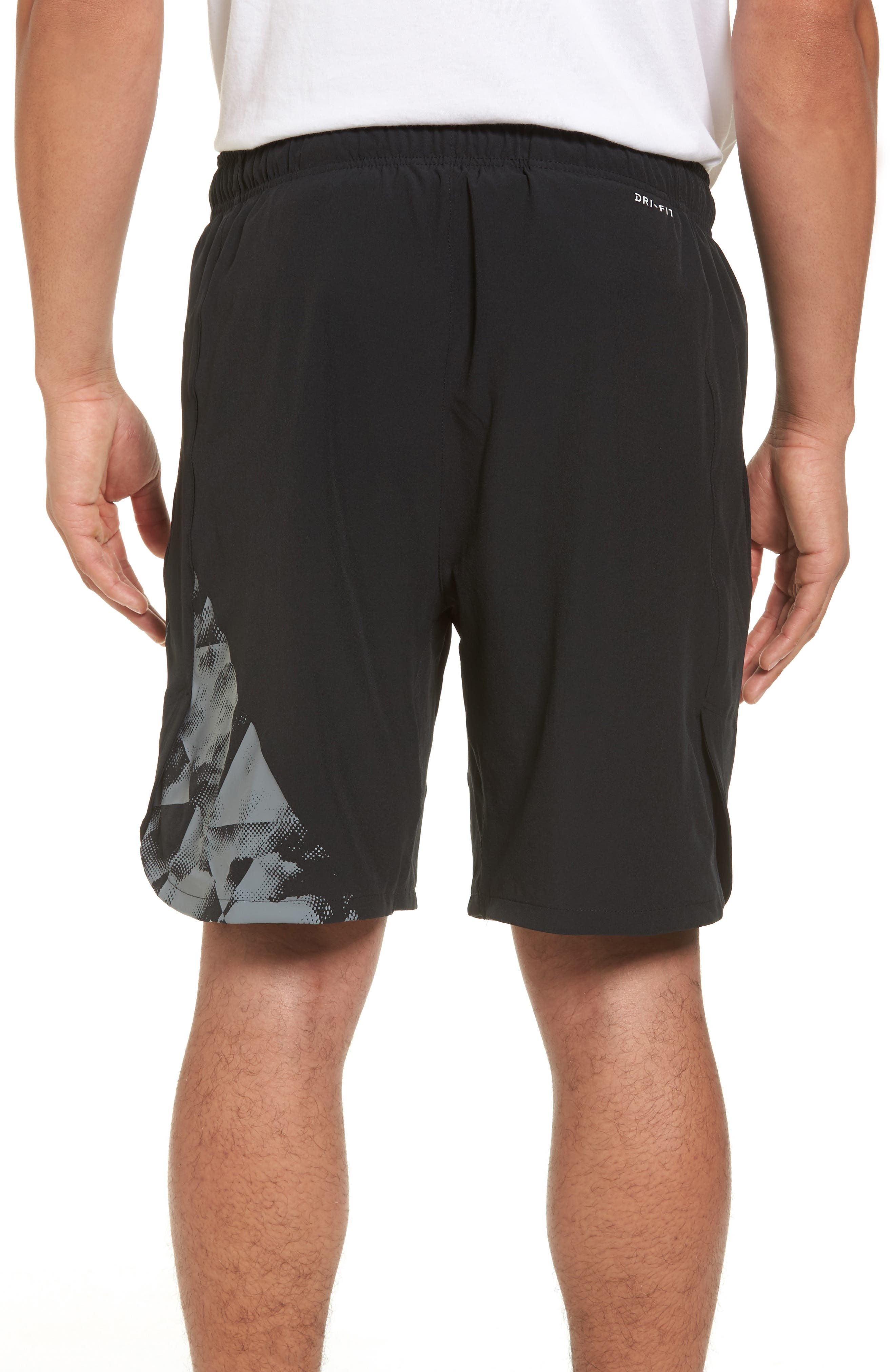 Flex Training Shorts,                             Alternate thumbnail 2, color,                             Black/ Cool Grey
