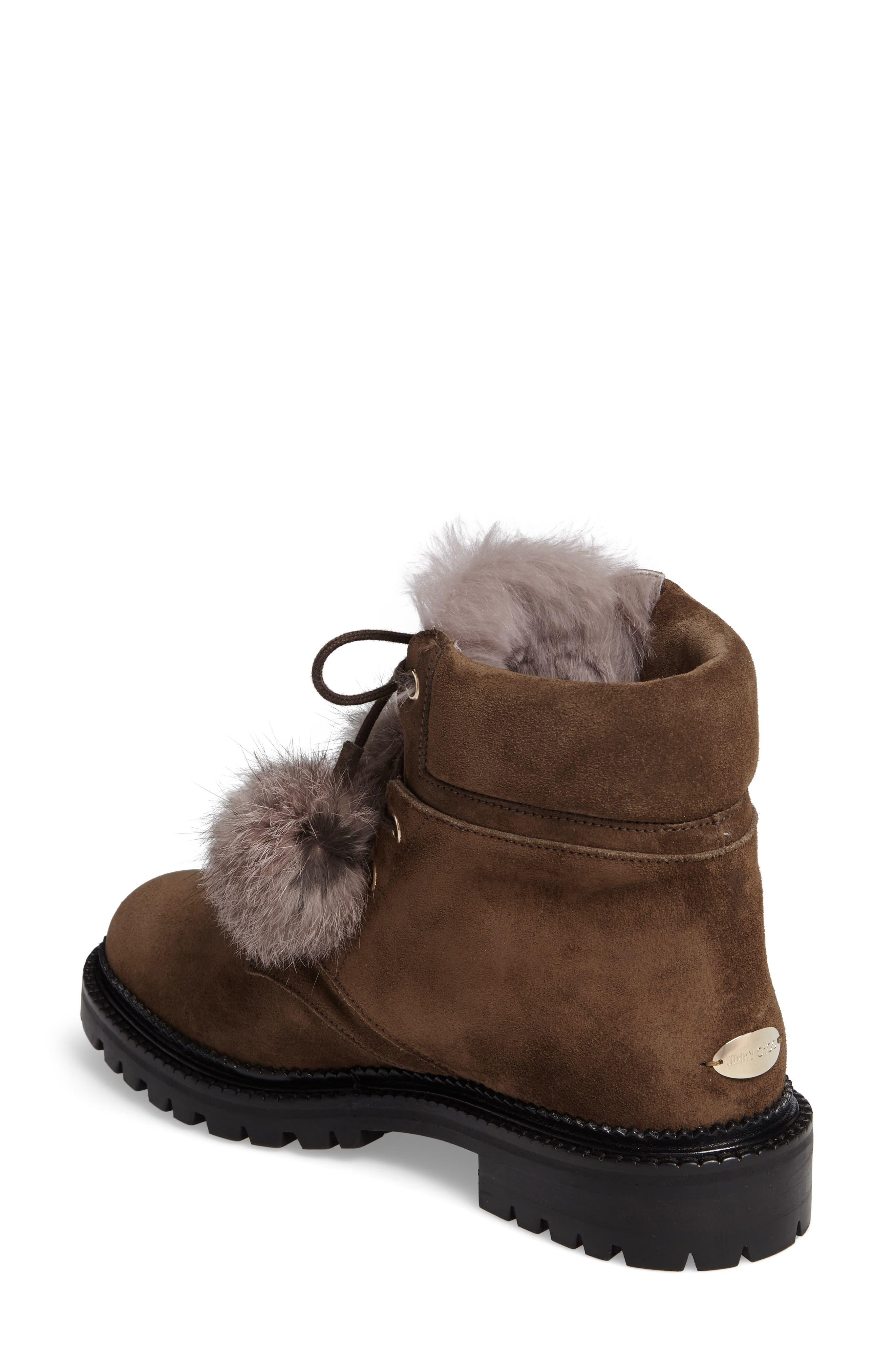 Alternate Image 2  - Jimmy Choo Elba Genuine Rabbit Fur Boot (Women)