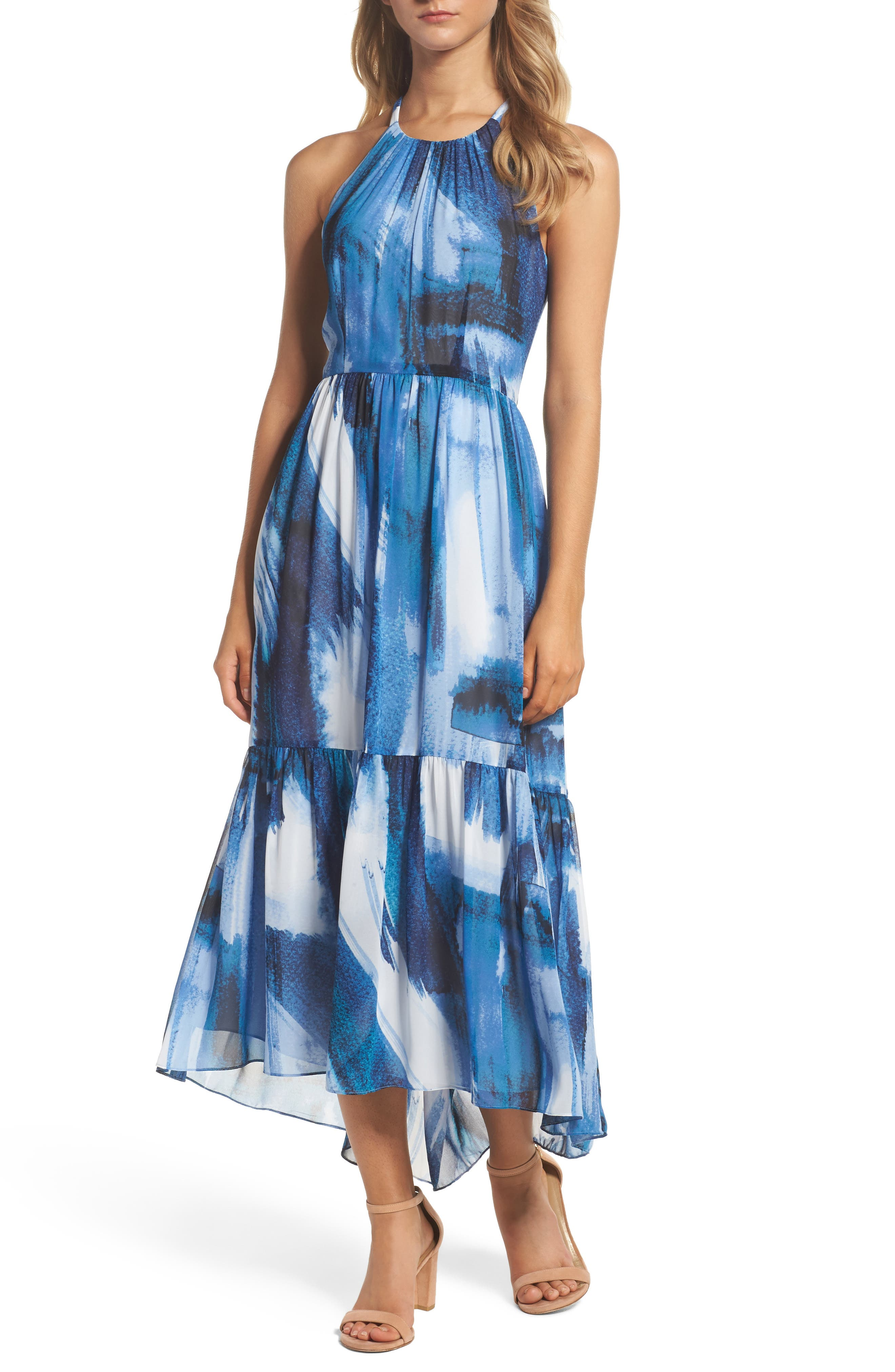 Vince Camuto Chiffon Maxi Dress (Regular & Petite)