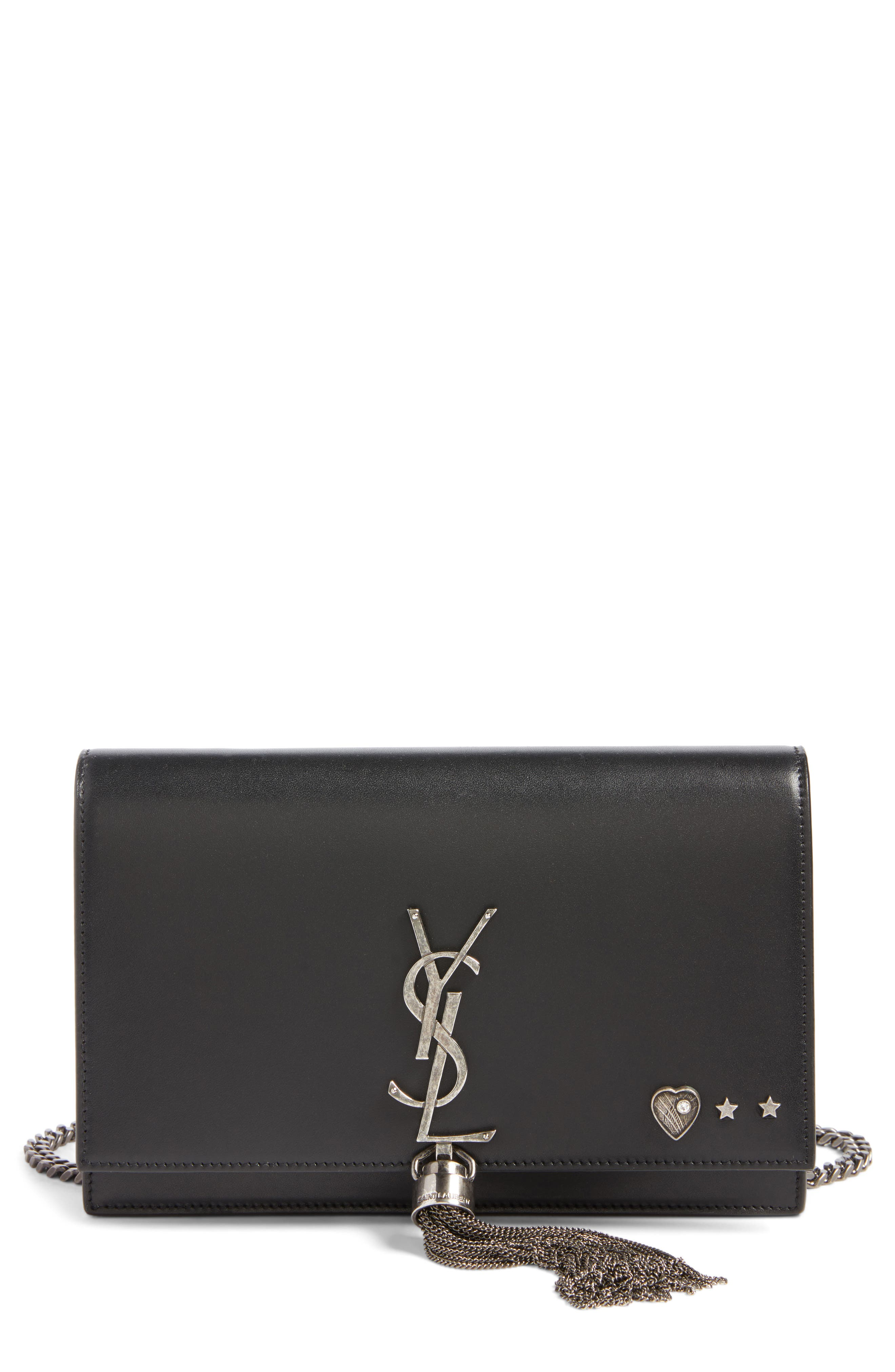 SAINT LAURENT Mini Kate Leather Wallet on a Chain