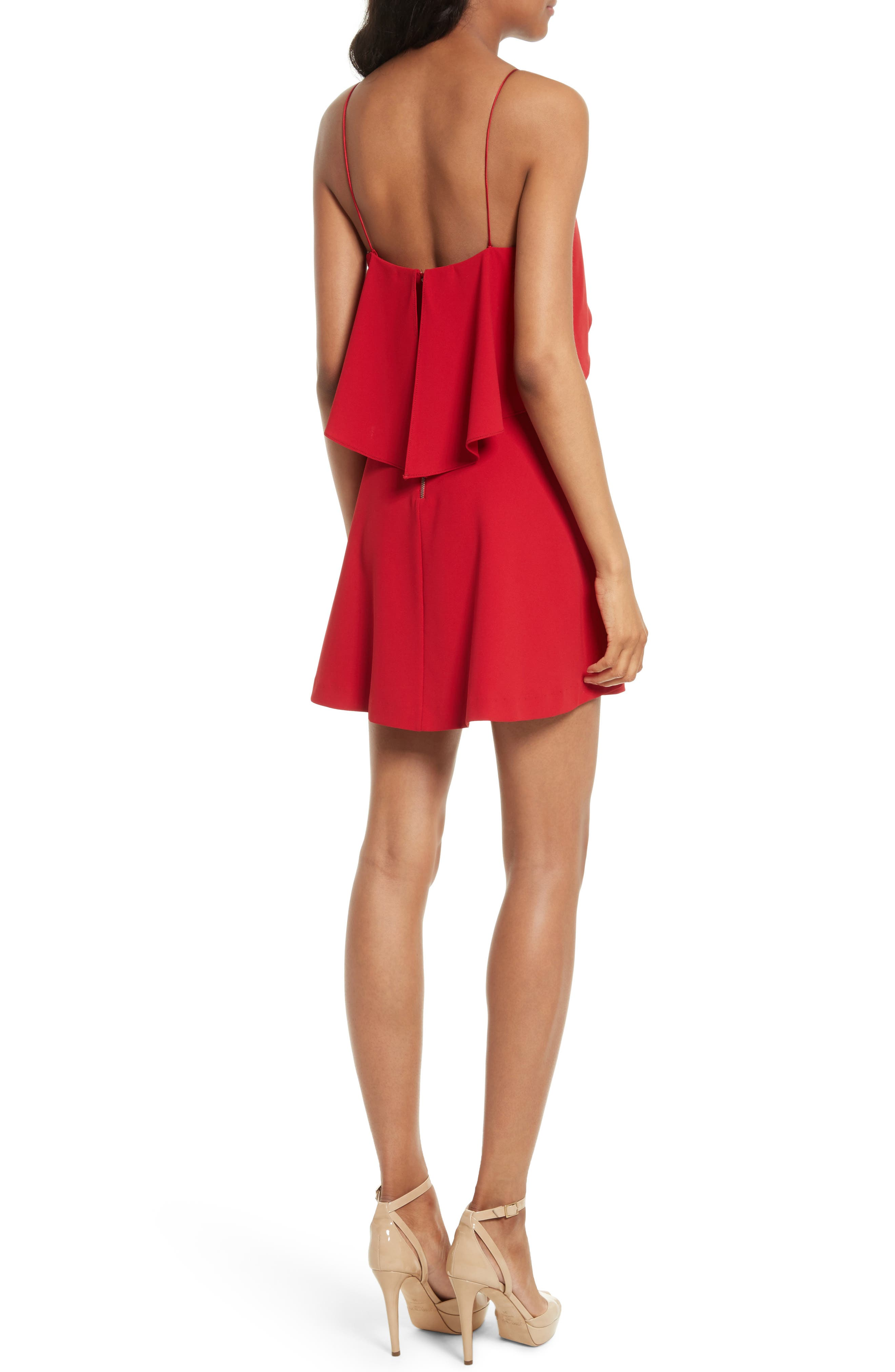 Kipp Layered Ruffle Short Dress,                             Alternate thumbnail 2, color,                             Deep Ruby