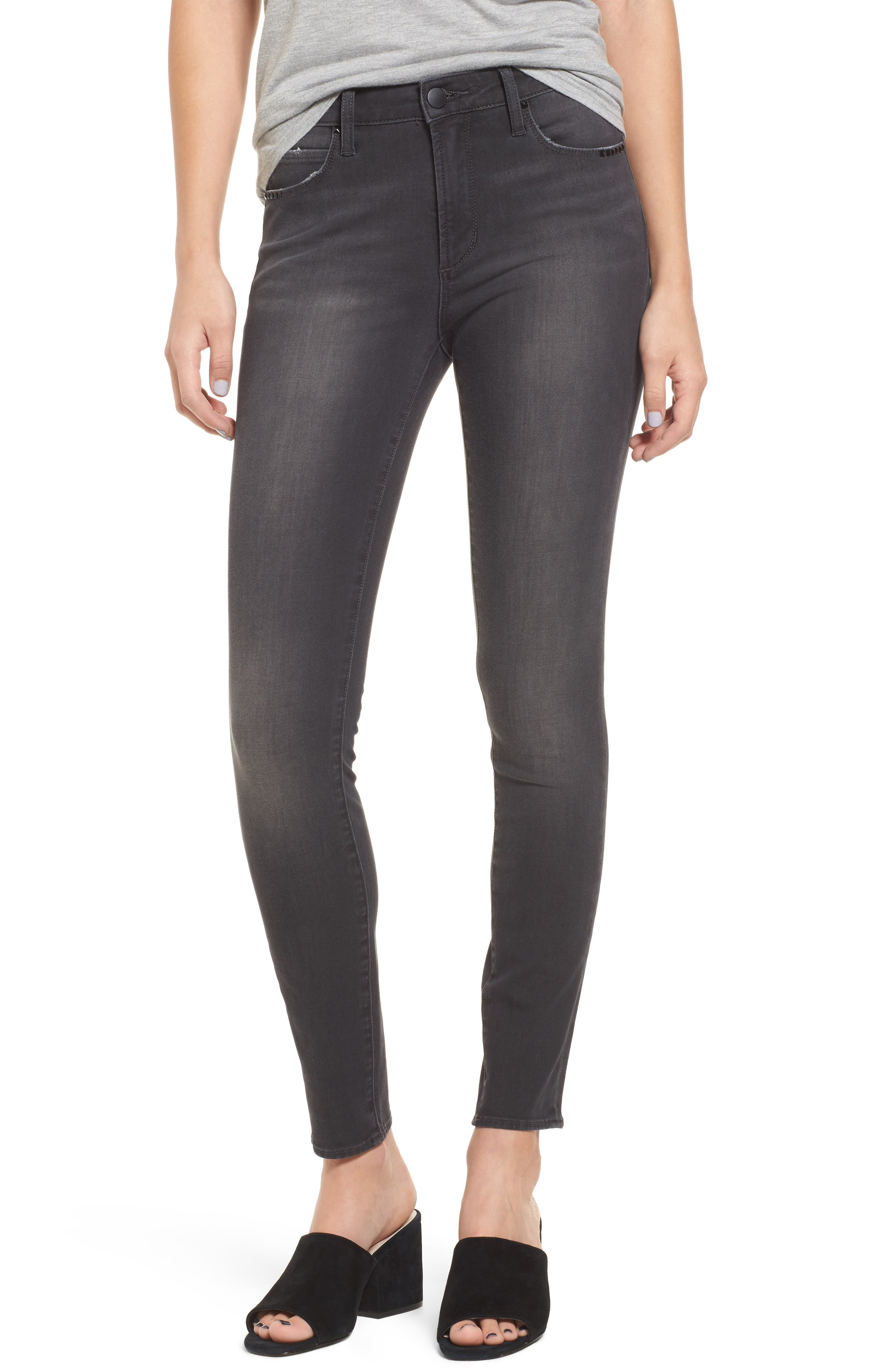 LEITH Studded Skinny Jeans