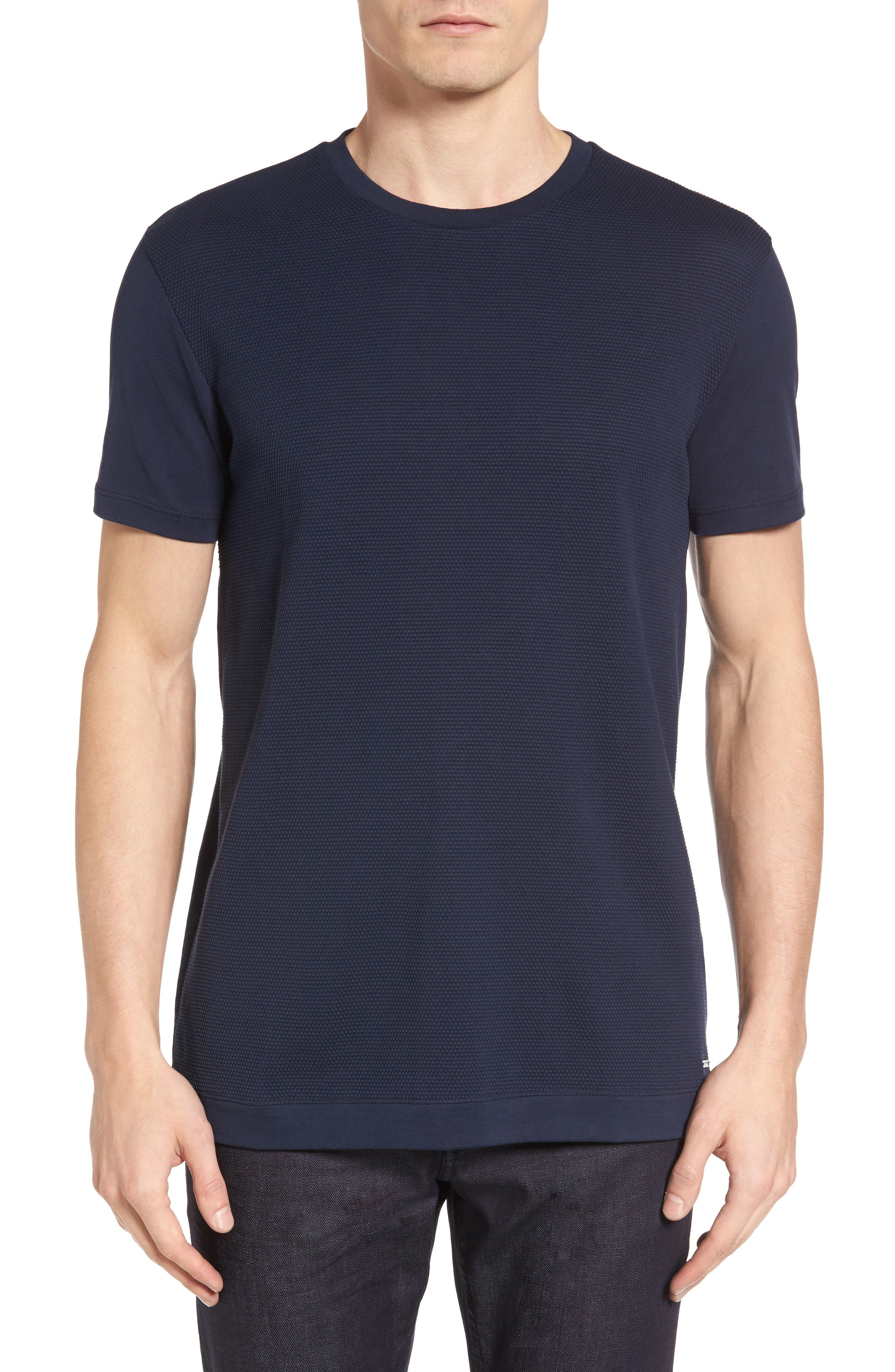 Tessler Micropattern T-Shirt,                         Main,                         color, Navy