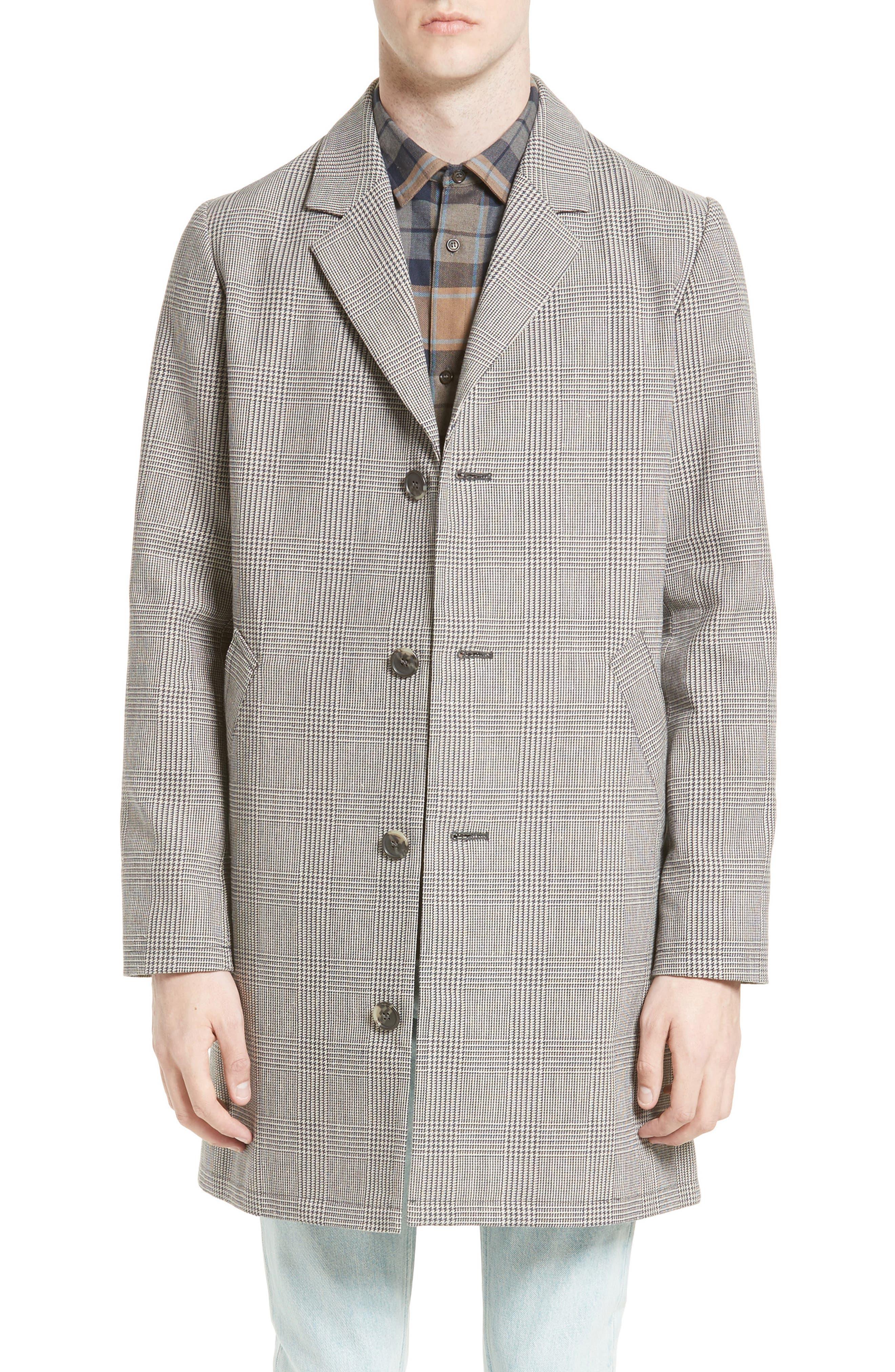 Main Image - A.P.C. Manteau Tristan Cotton & Linen Topcoat