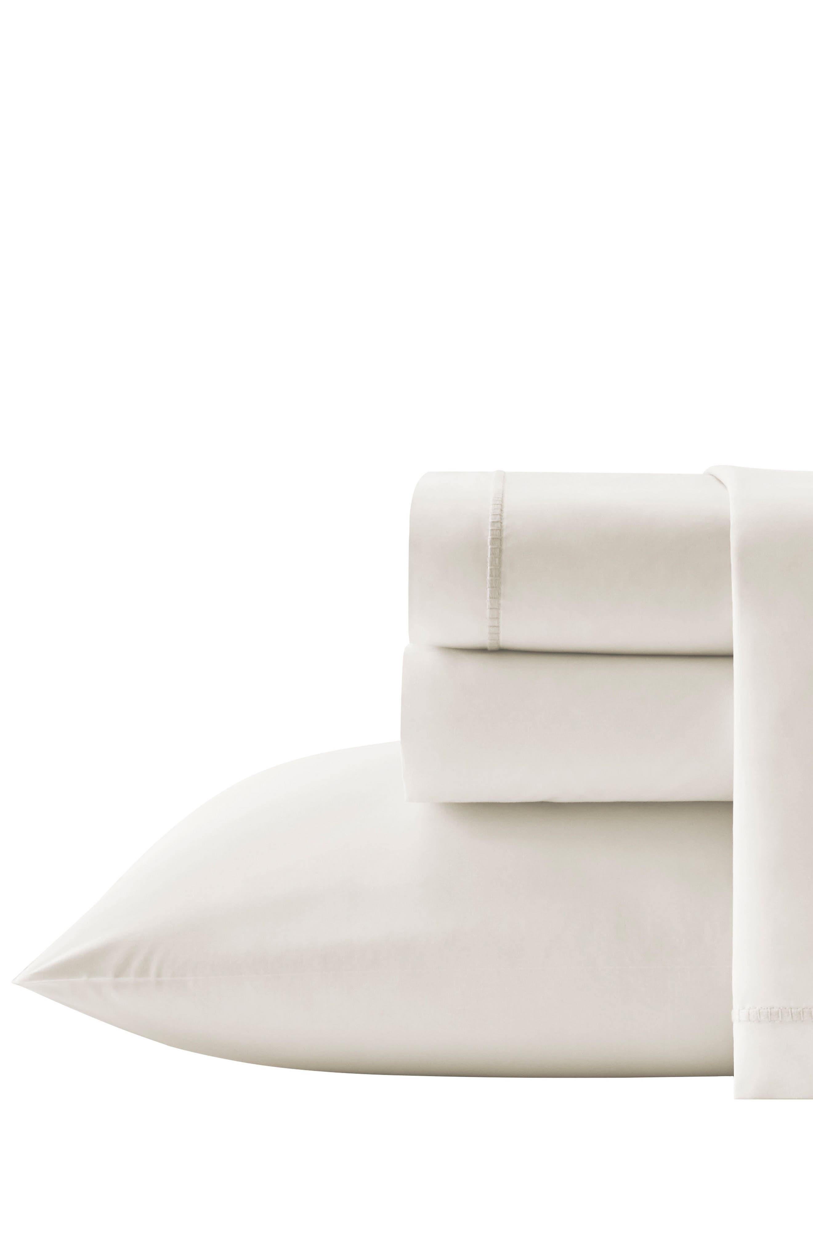 Passementerie Pillowcases,                             Main thumbnail 1, color,                             Natural Bone