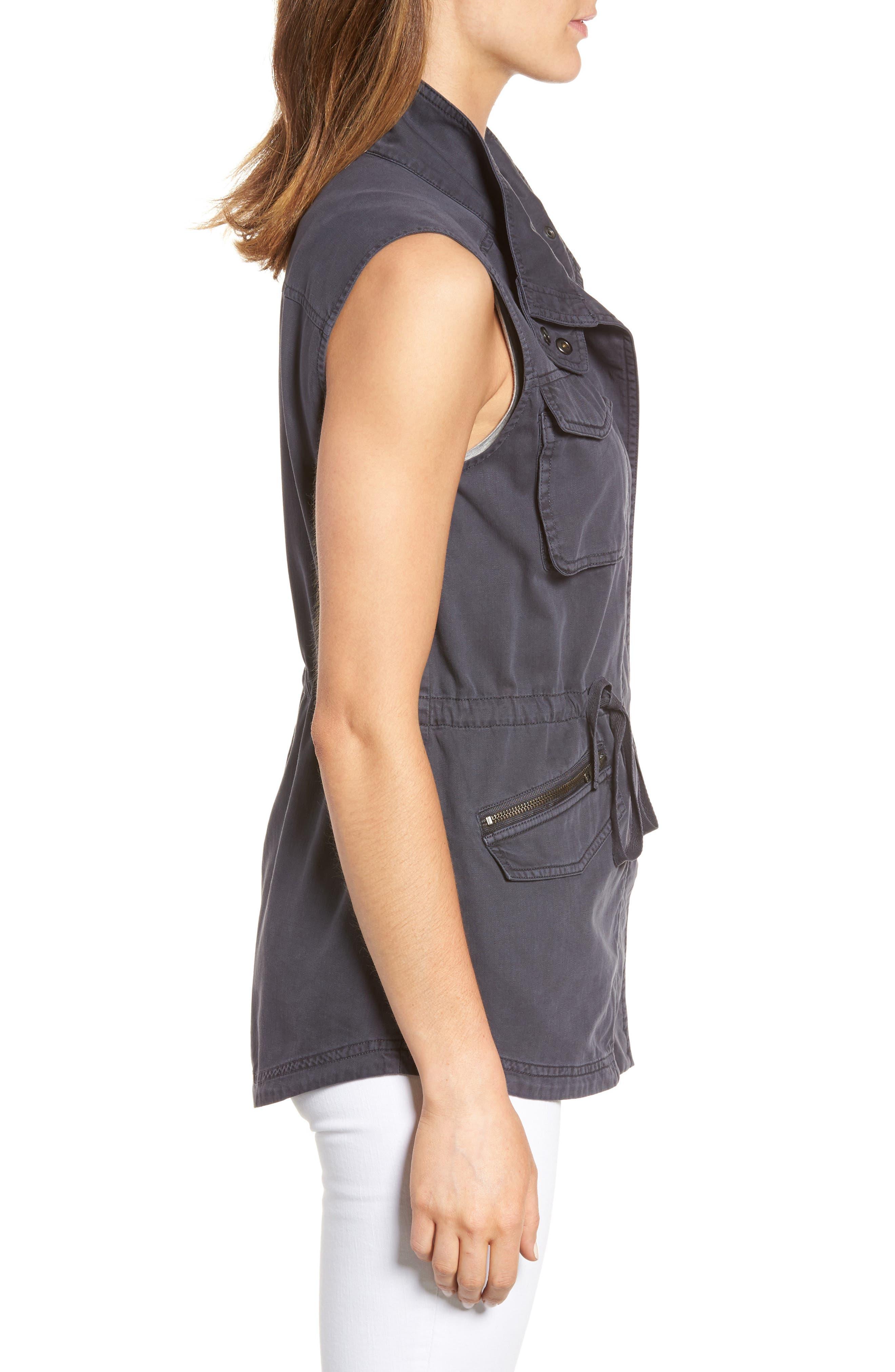 Utility Vest,                             Alternate thumbnail 3, color,                             Grey Ebony