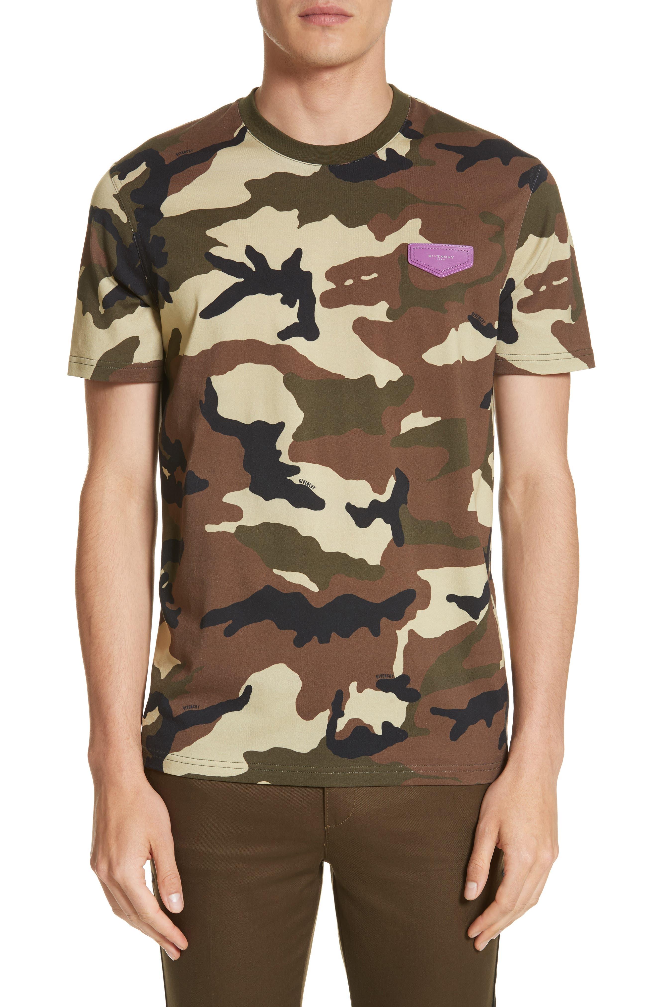 Extra Trim Fit Camo Print T-Shirt,                         Main,                         color, Camo