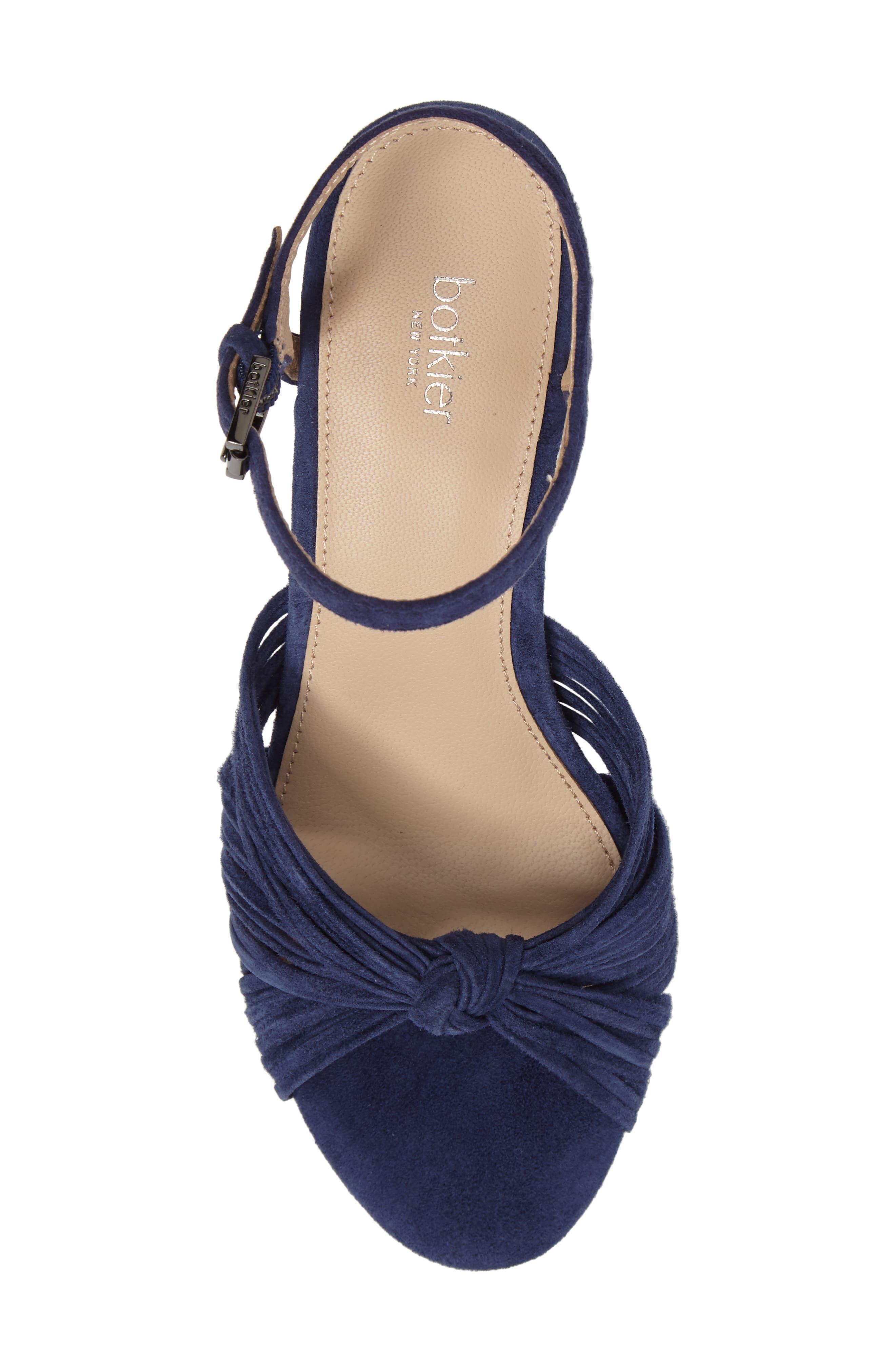 Patsy Block Heel Sandal,                             Alternate thumbnail 5, color,                             Navy