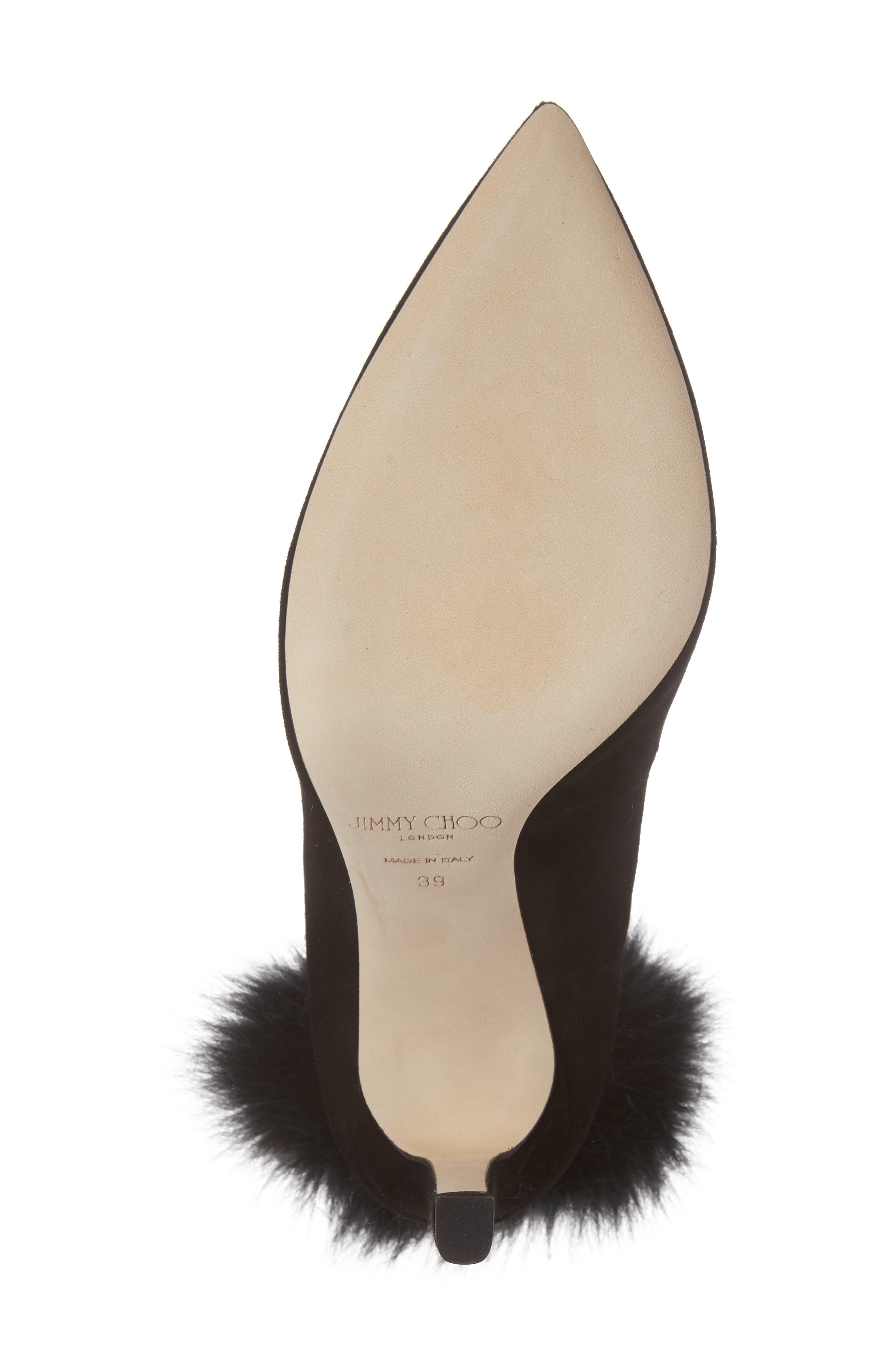 Alternate Image 6  - Jimmy Choo South Genuine Fox Fur Pompom Pump (Women)
