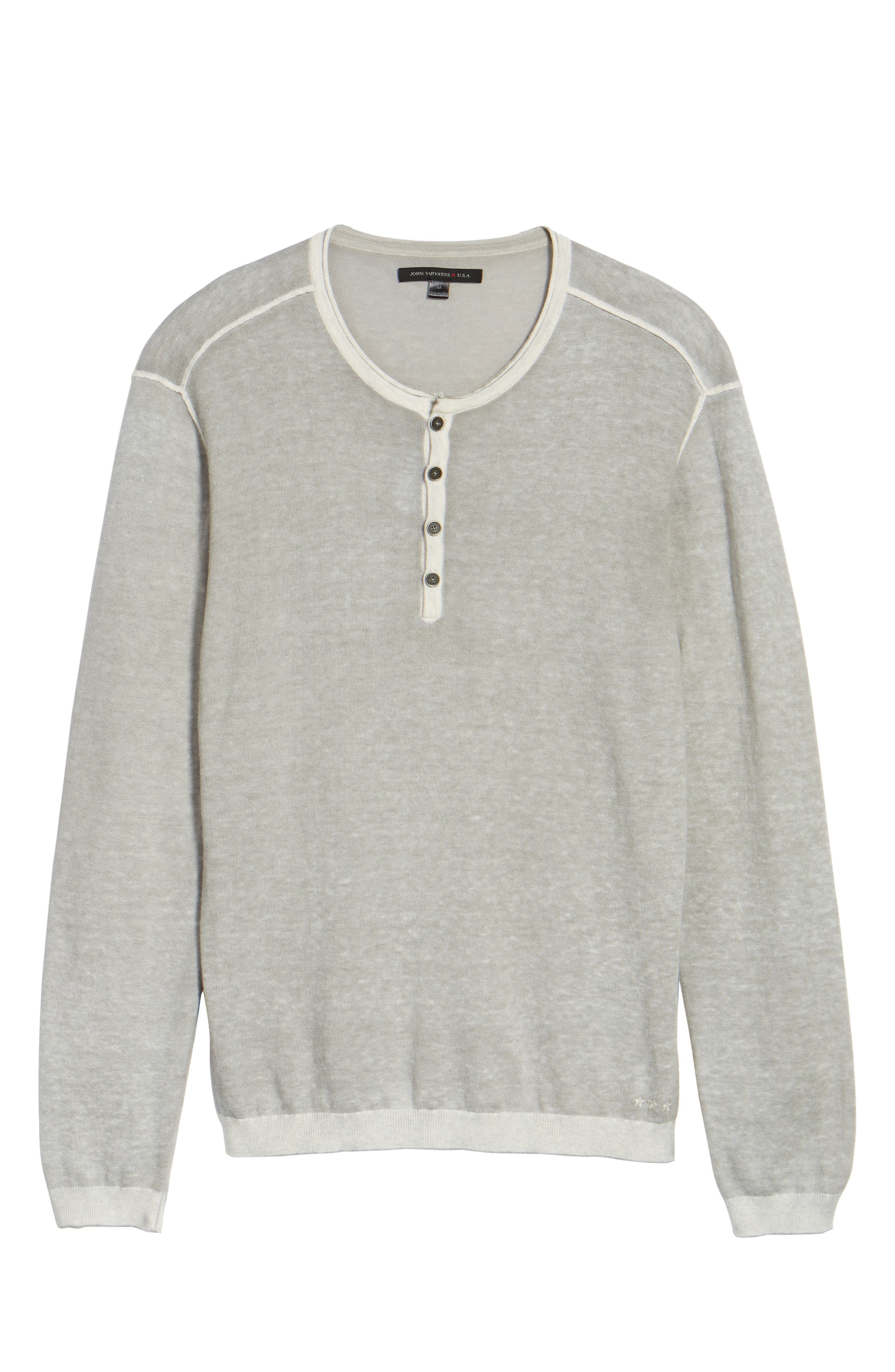 Alternate Image 5  - John Varvatos Star USA Henley Sweater