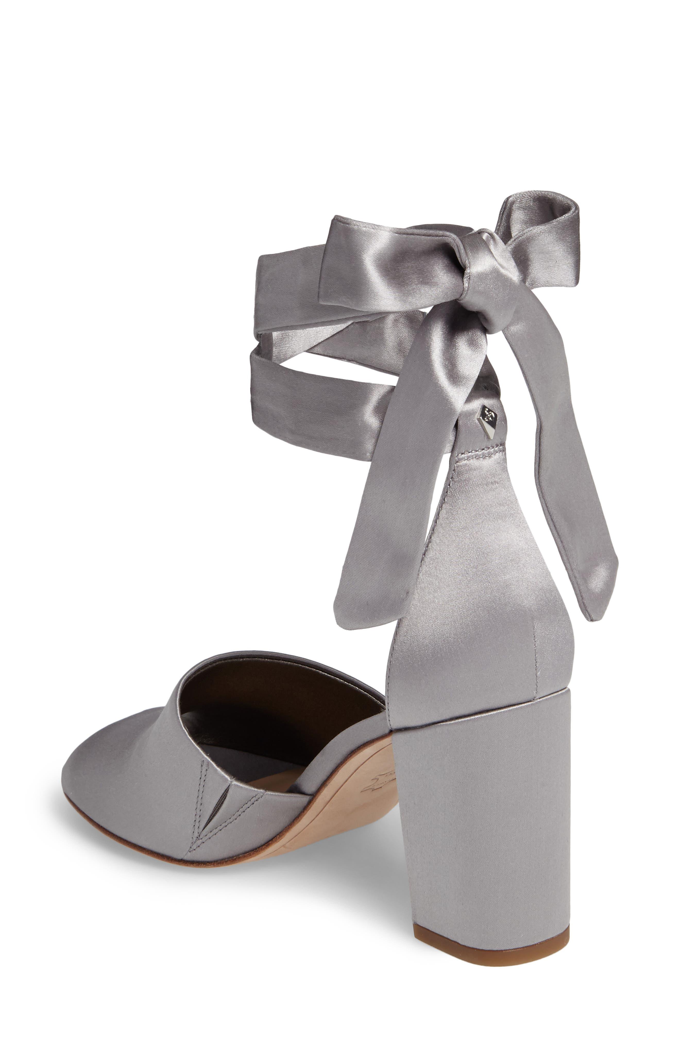Odele Sandal,                             Alternate thumbnail 2, color,                             Light Grey Satin
