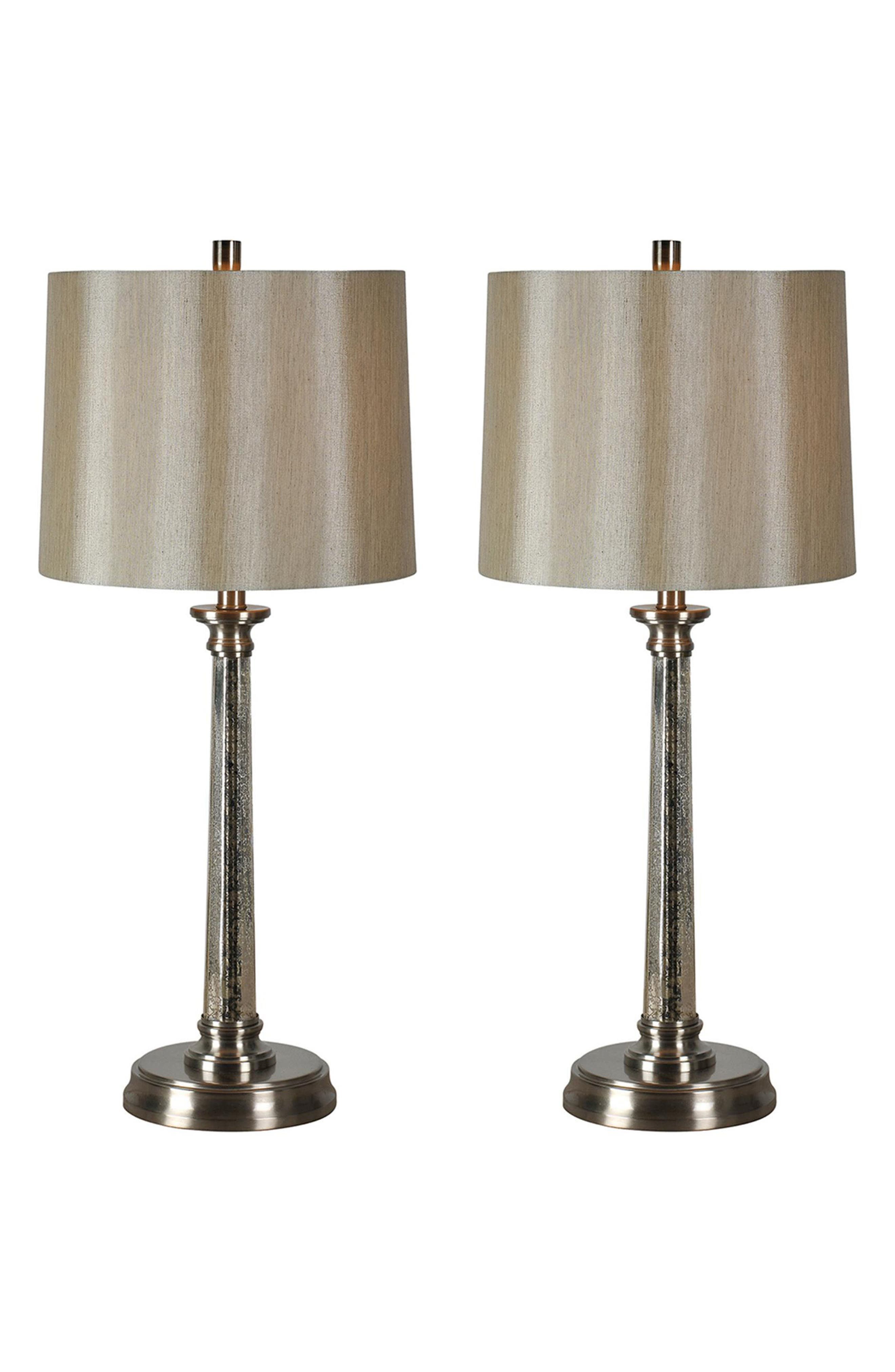 Brooks Set of 2 Table Lamps,                         Main,                         color, Satin Nickel