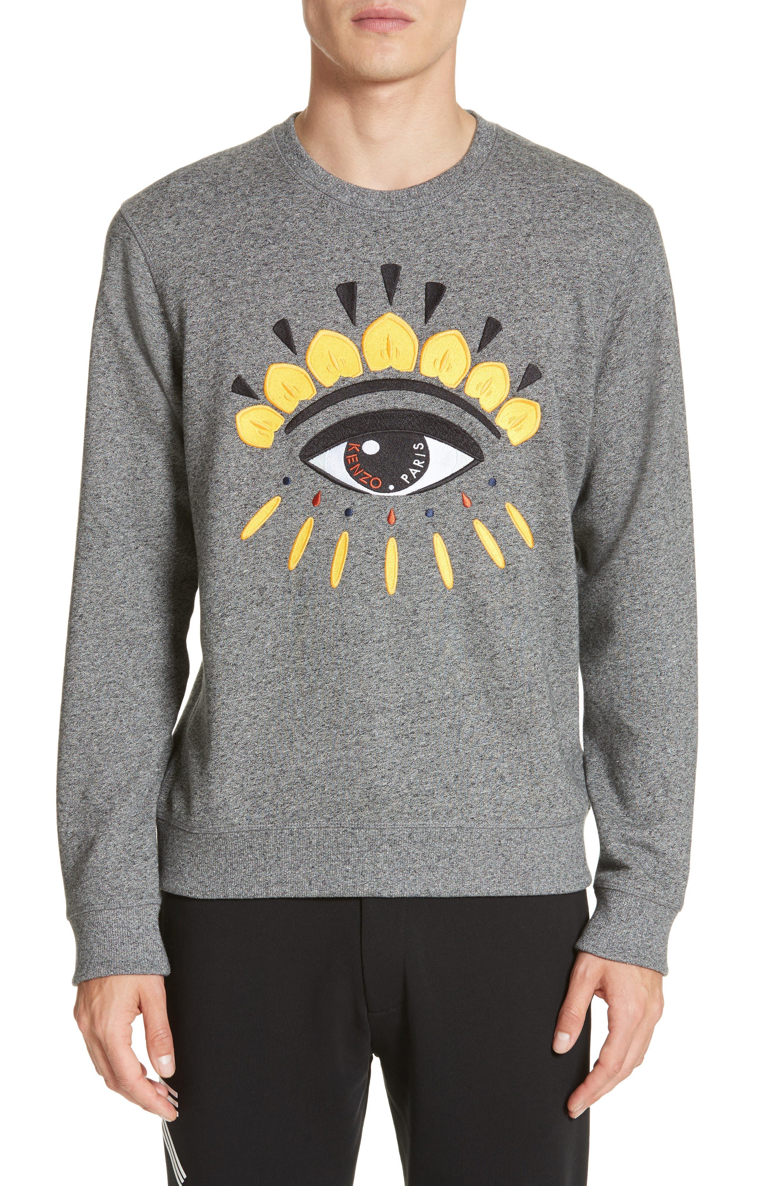 Eye Graphic Sweatshirt,                         Main,                         color, Antracite