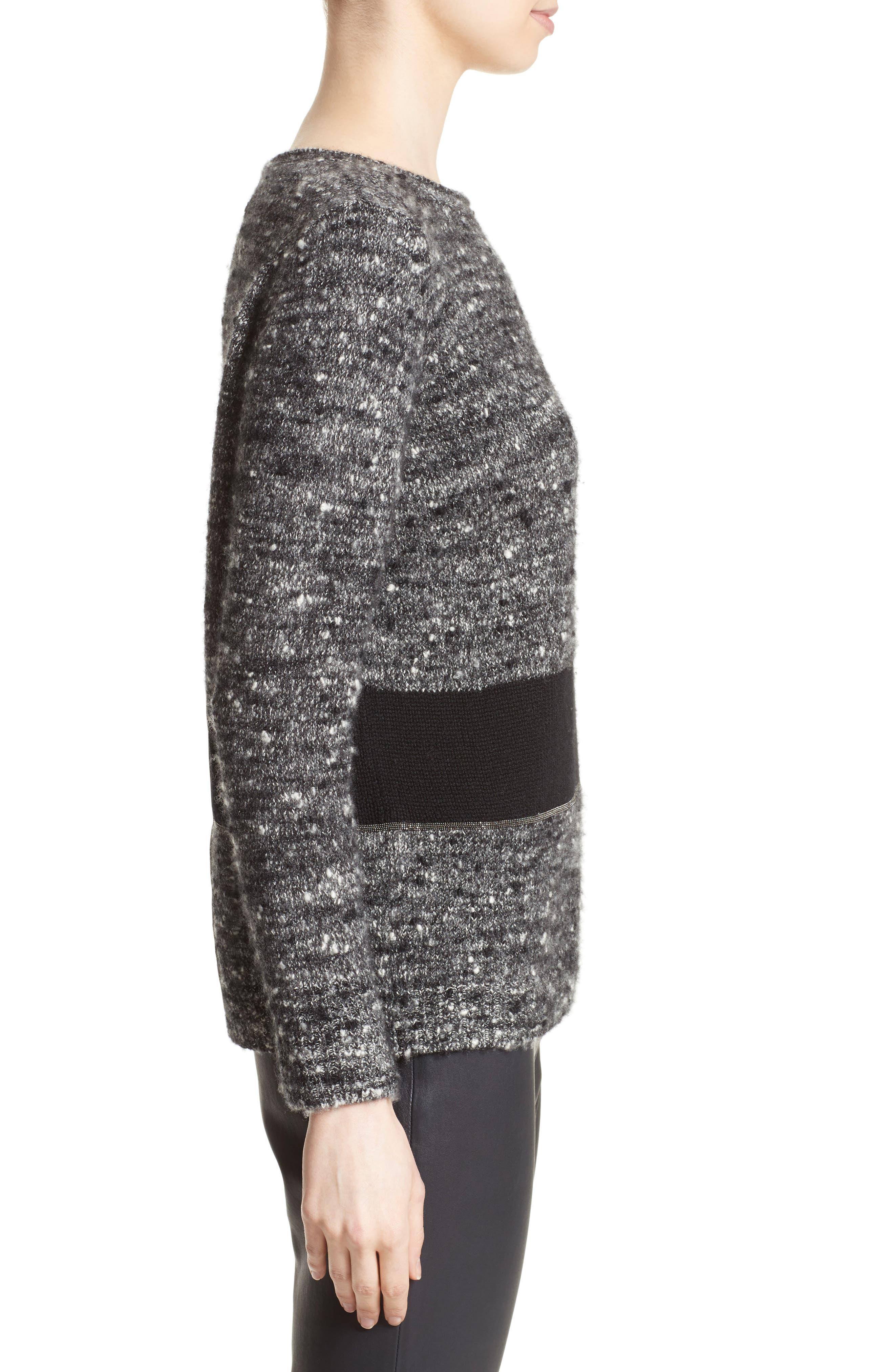 Alternate Image 5  - Fabiana Filippi Cashmere & Silk Blend Tweed Pullover