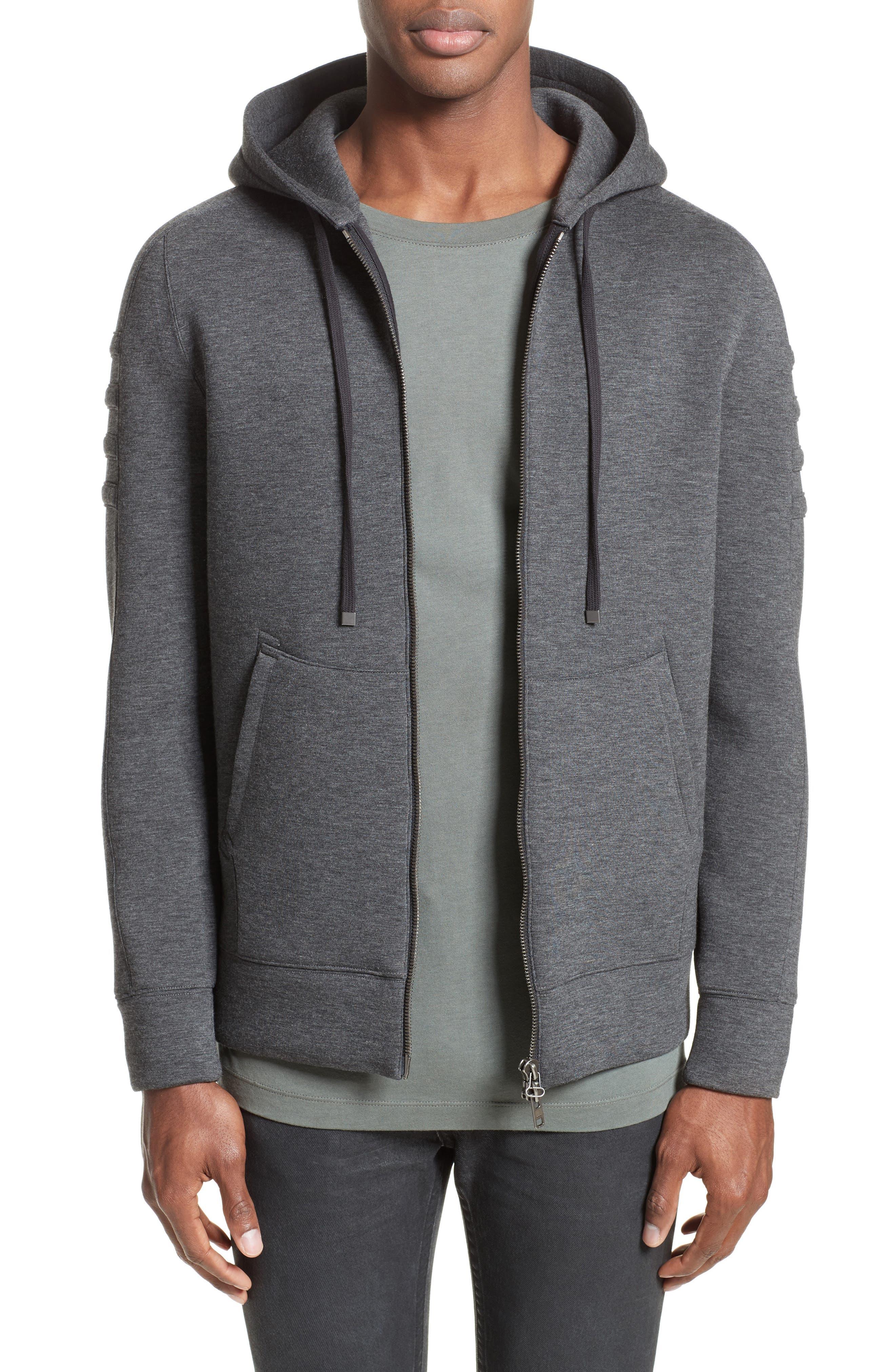 Full Zip Hoodie,                         Main,                         color, Dark Charcoal