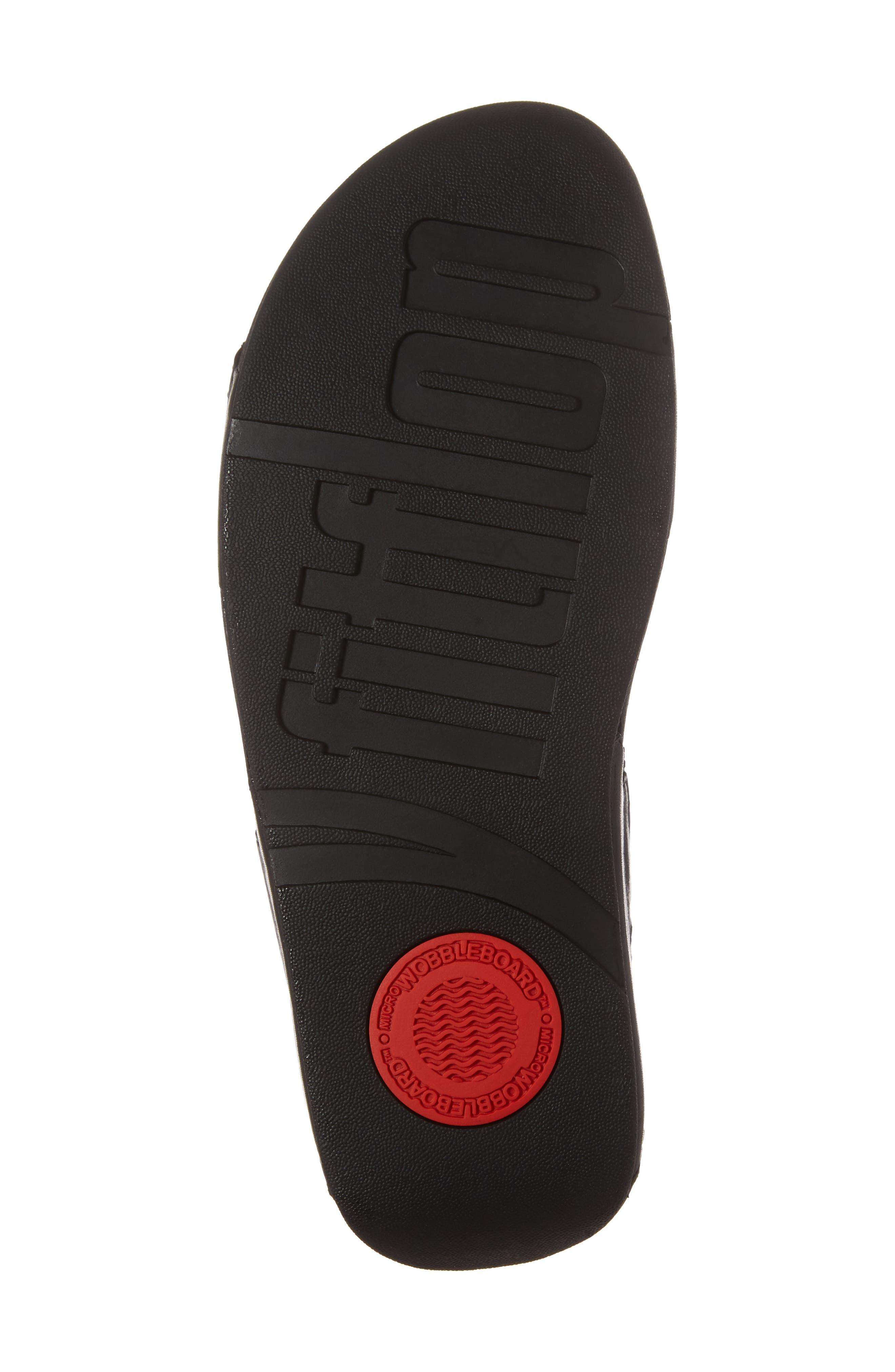 Bumble Wedge Slide Sandal,                             Alternate thumbnail 6, color,                             Black Leather