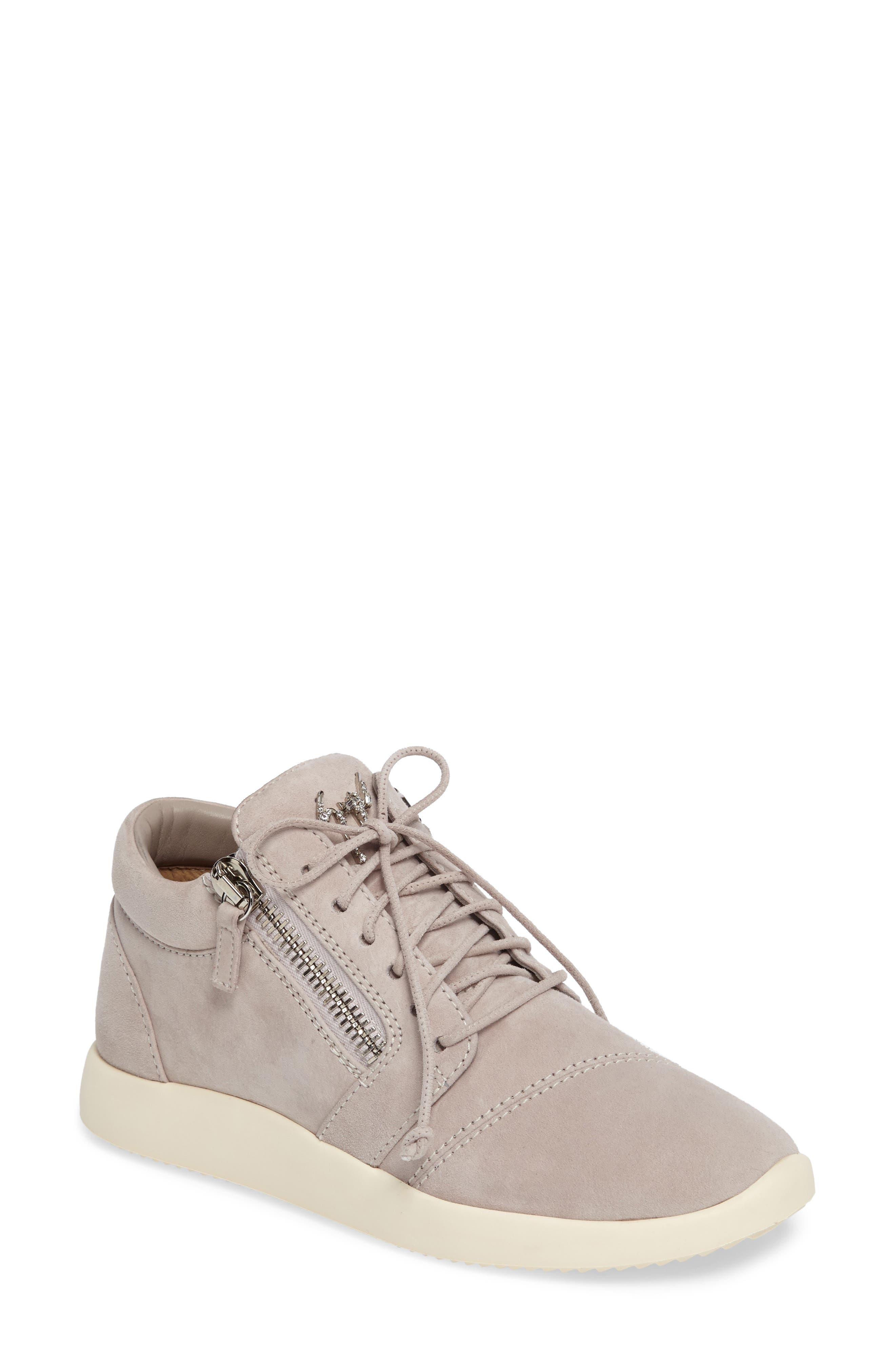 Zip Mid-Top Sneaker,                             Main thumbnail 1, color,                             Grey