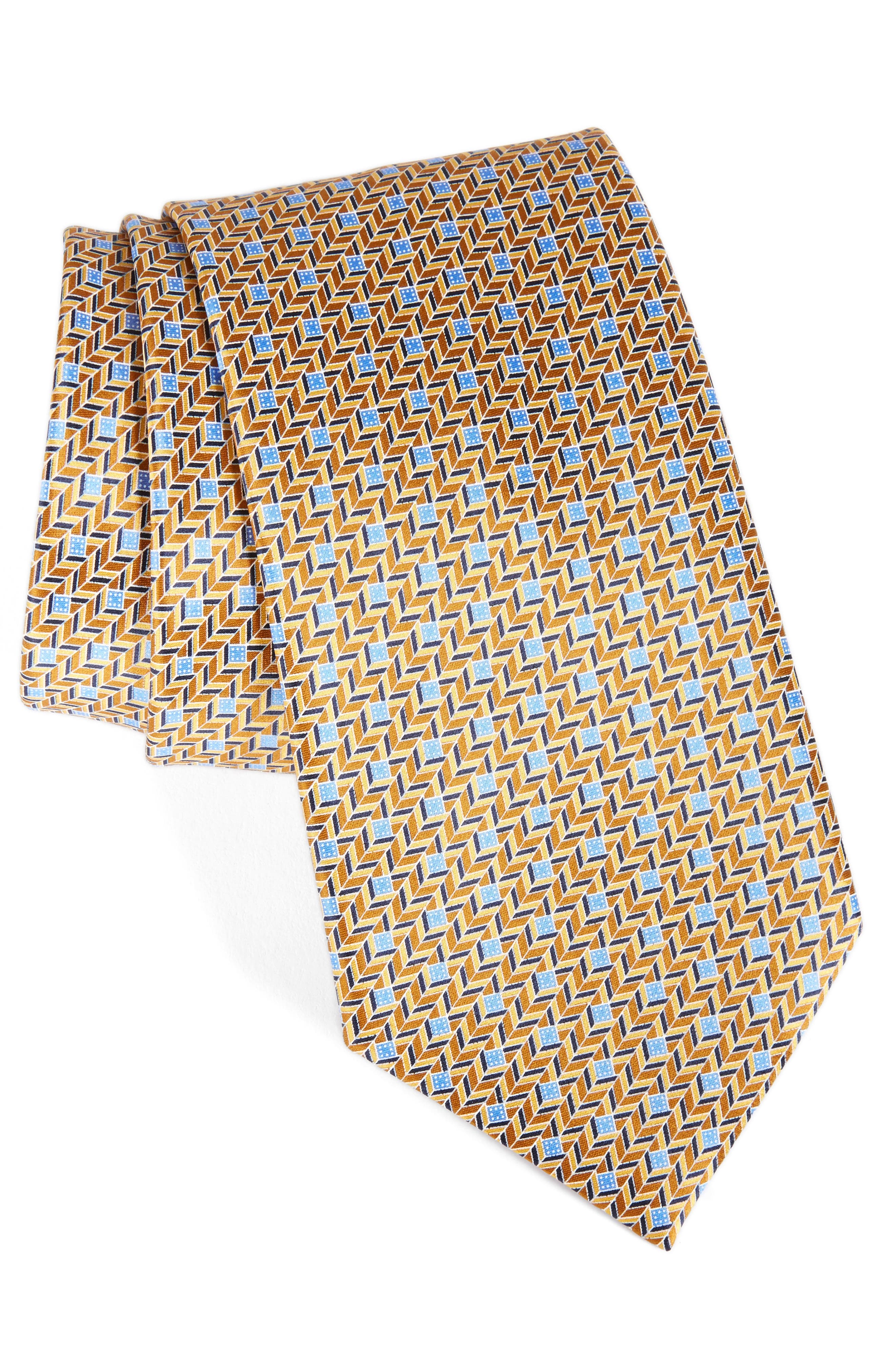 Ermenegildo Zegna Chevron Silk Tie