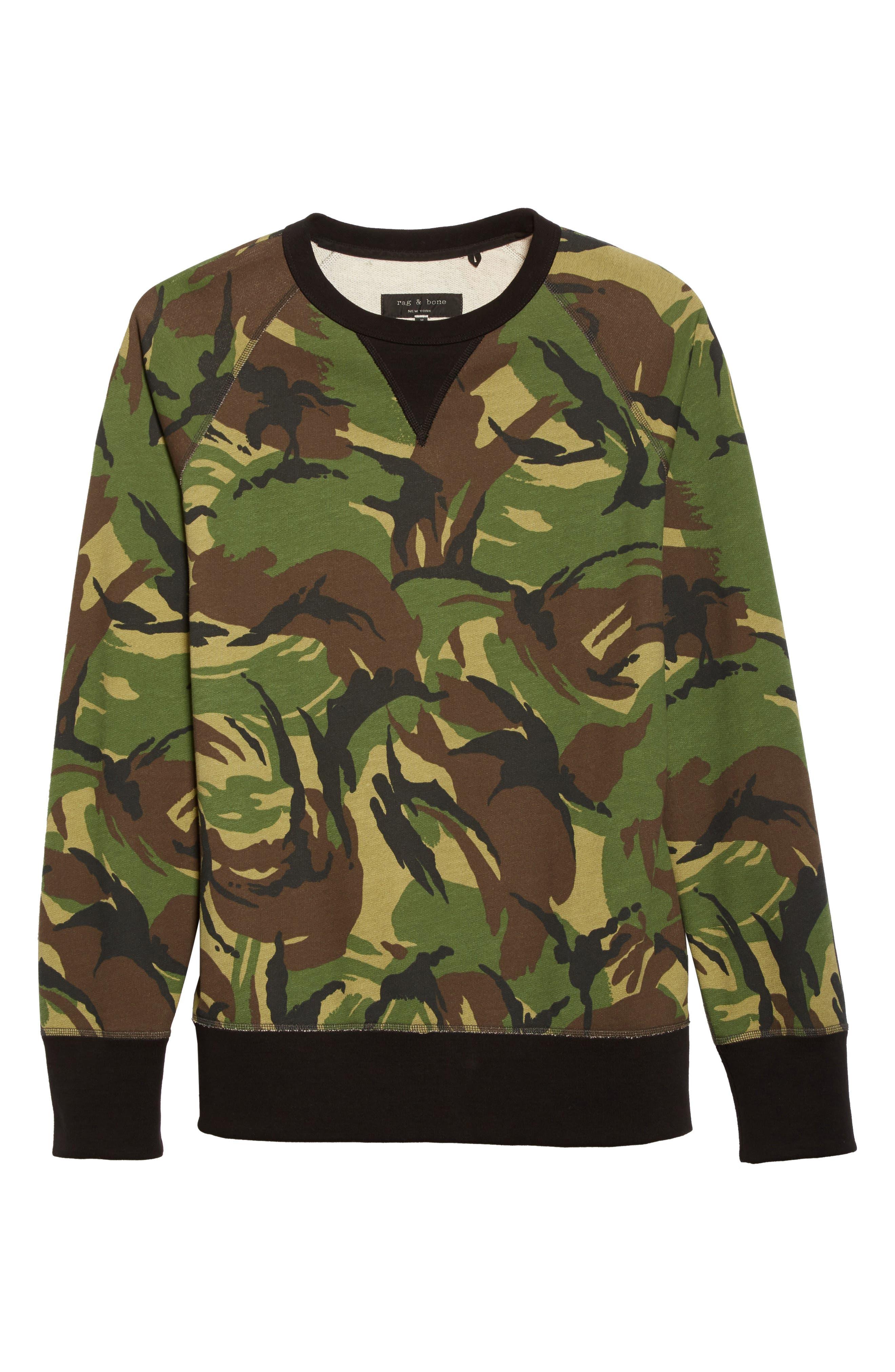 Alternate Image 6  - rag & bone Camo Sweatshirt