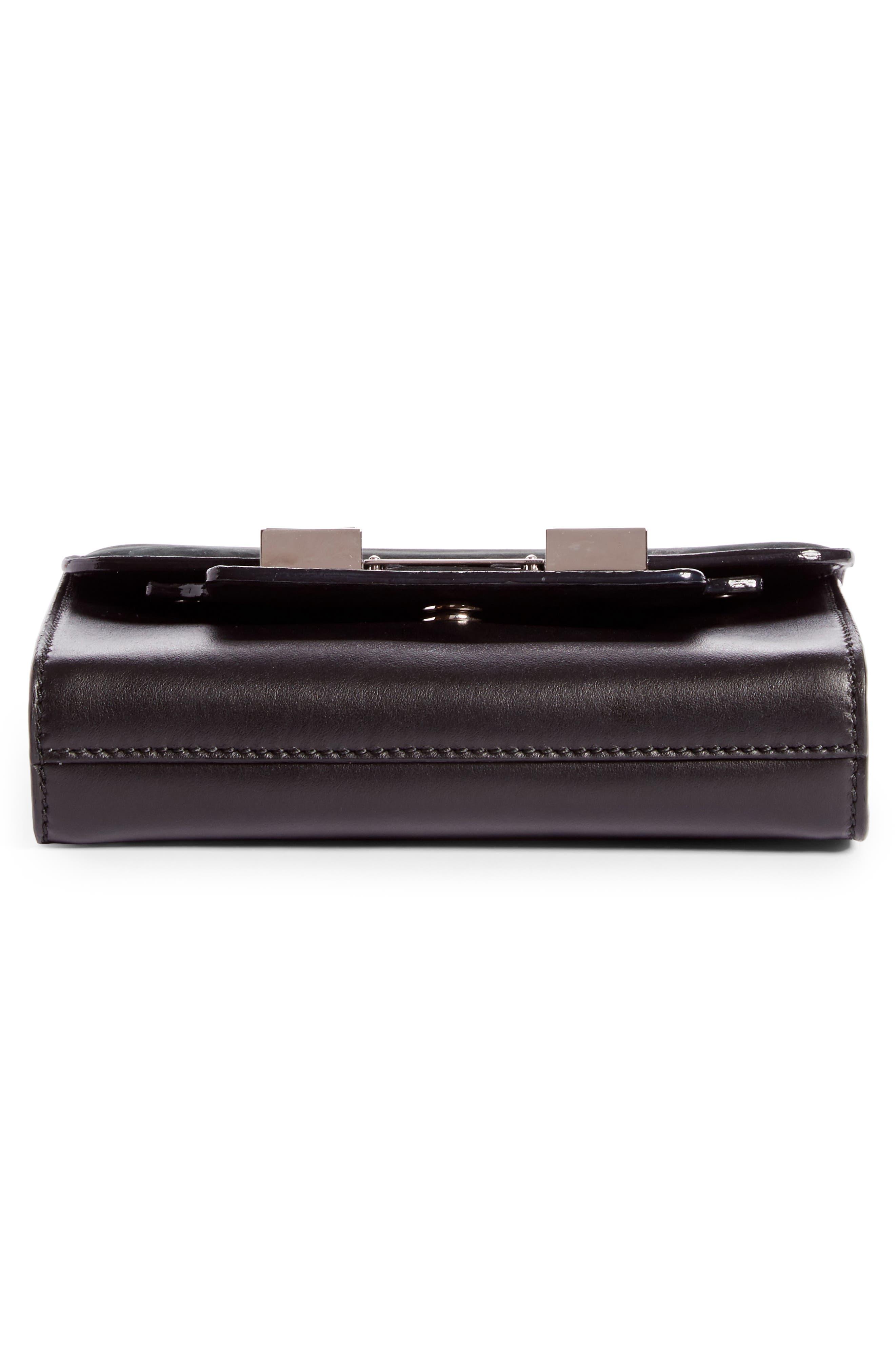 PS11 Calfskin Leather Crossbody Wallet,                             Alternate thumbnail 5, color,                             Black