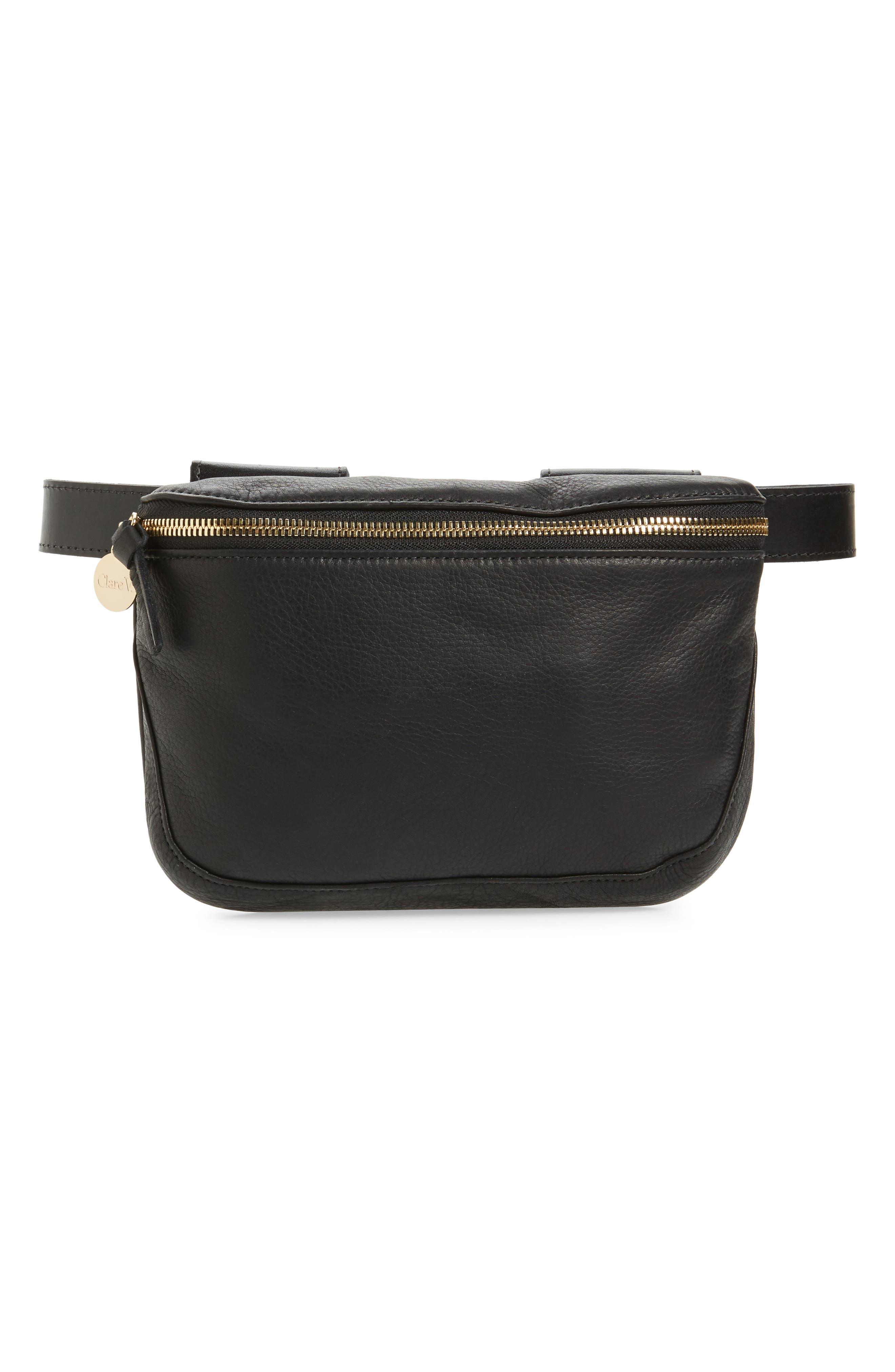 Clare V. Velvet Leather Fanny Pack