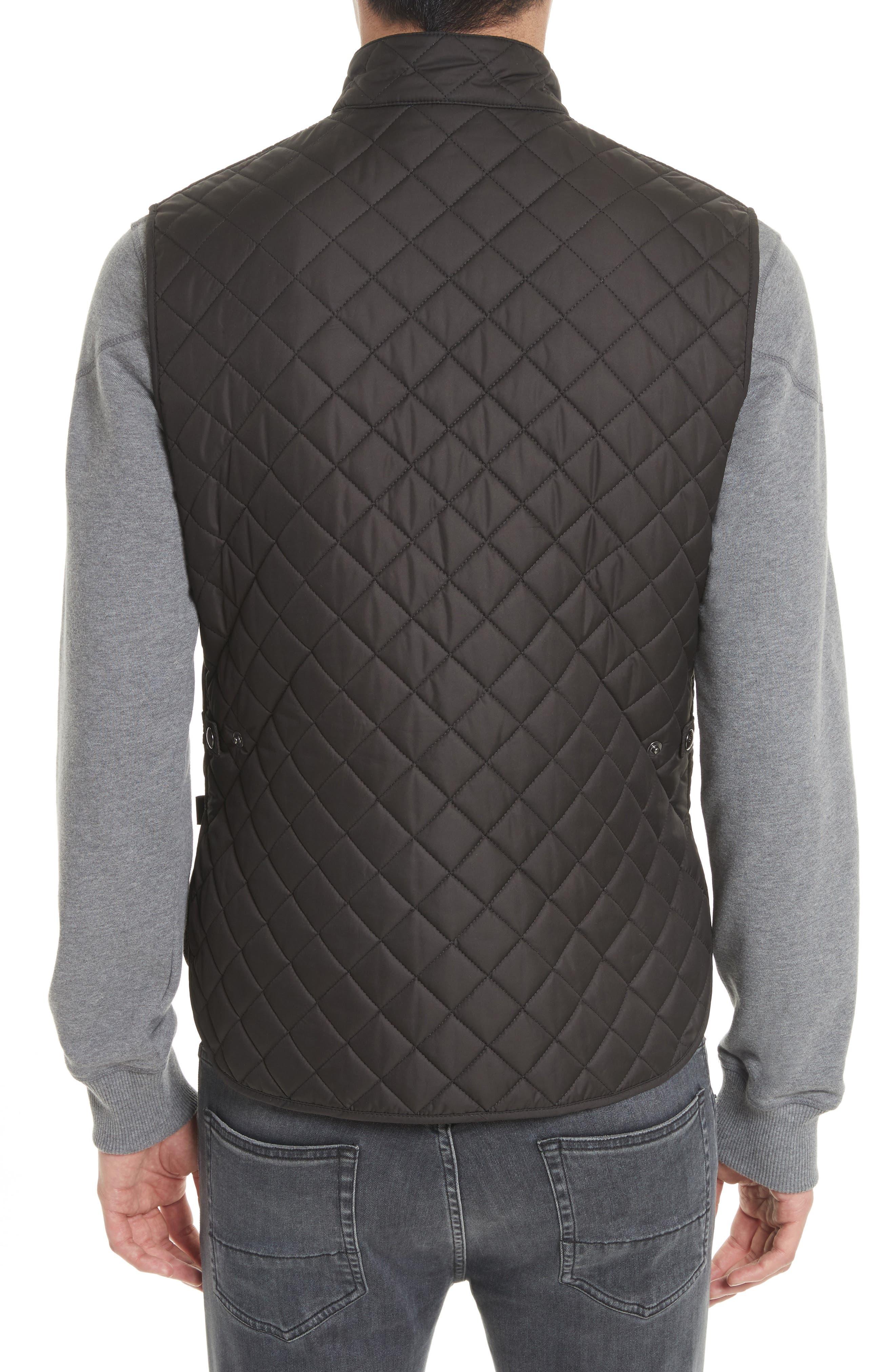Waistcoat Tech Quilted Vest,                             Alternate thumbnail 2, color,                             Black
