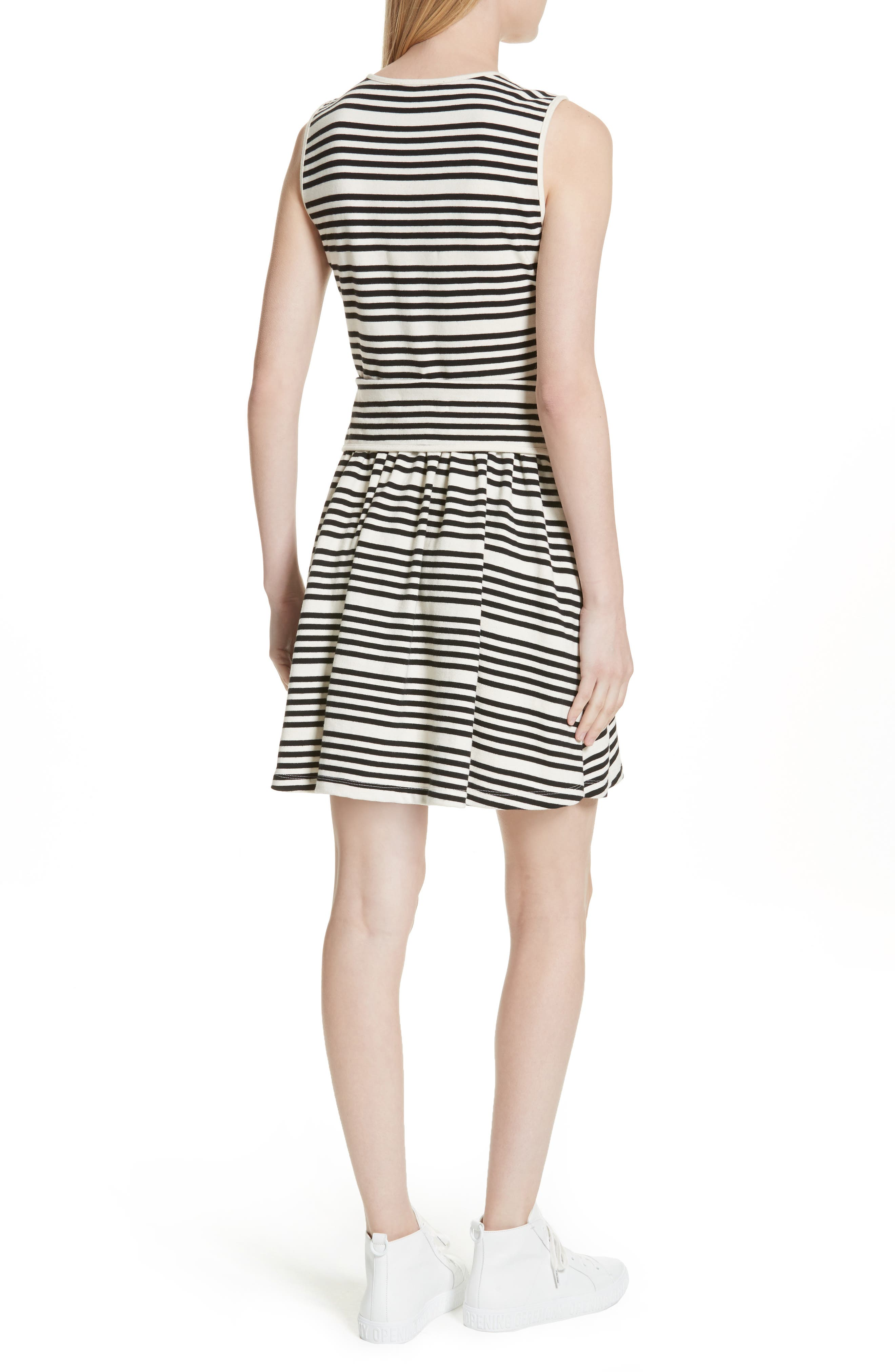 Alternate Image 2  - Opening Ceremony Stripe Button Front Dress