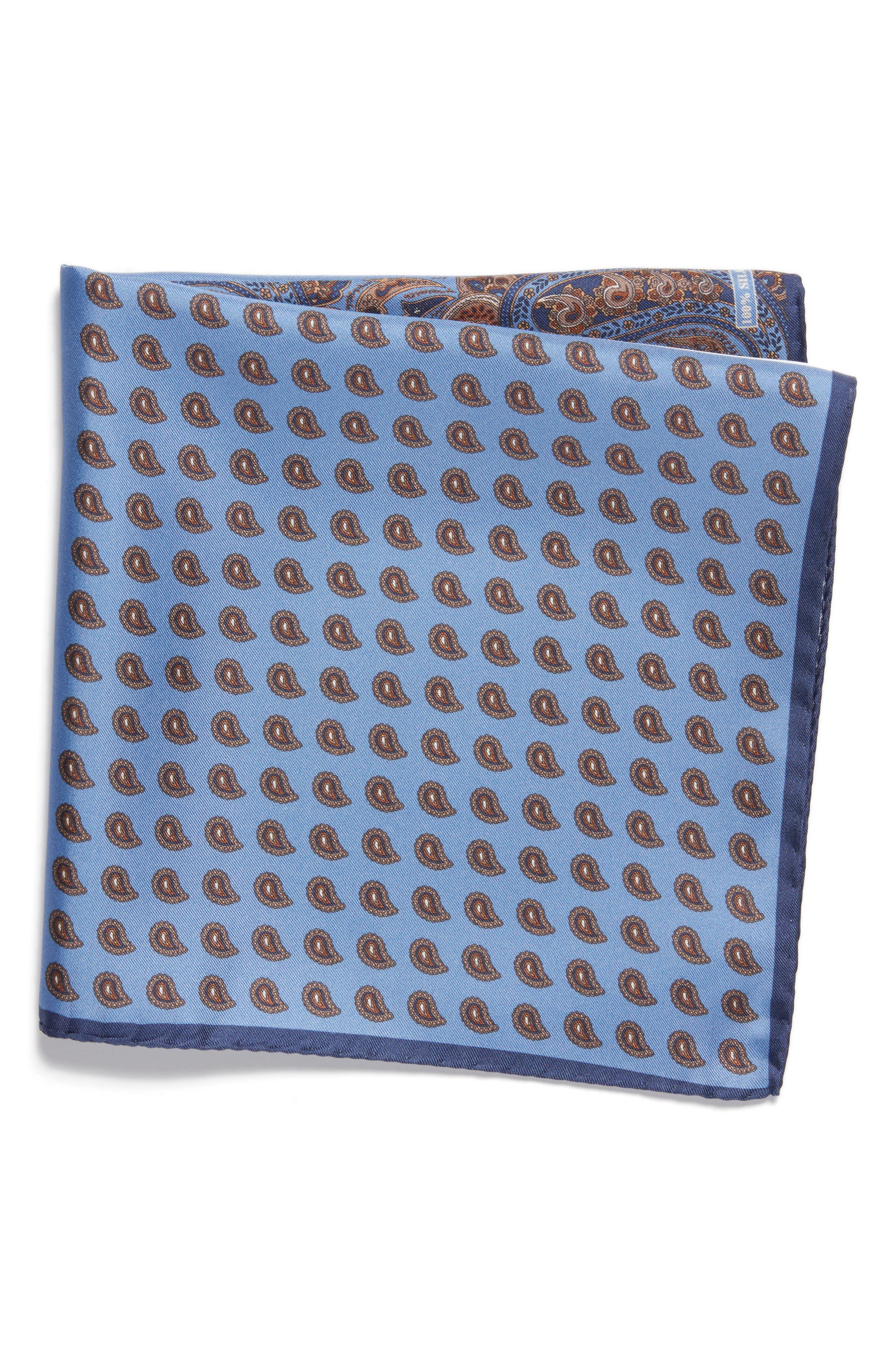 NORDSTROM MENS SHOP Four Panel Silk Pocket Square