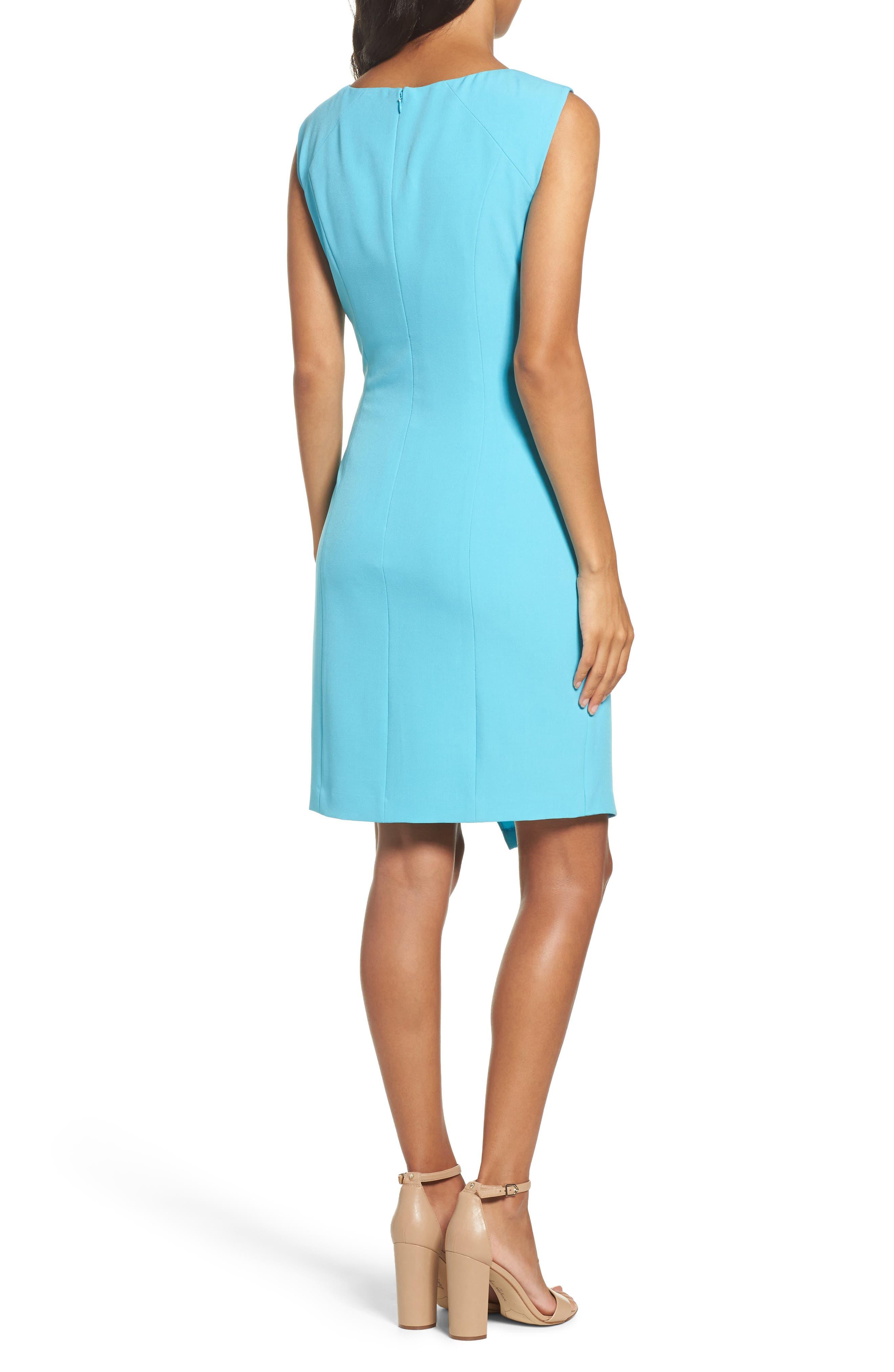 Stretch Sheath Dress,                             Alternate thumbnail 2, color,                             Pacific Blue