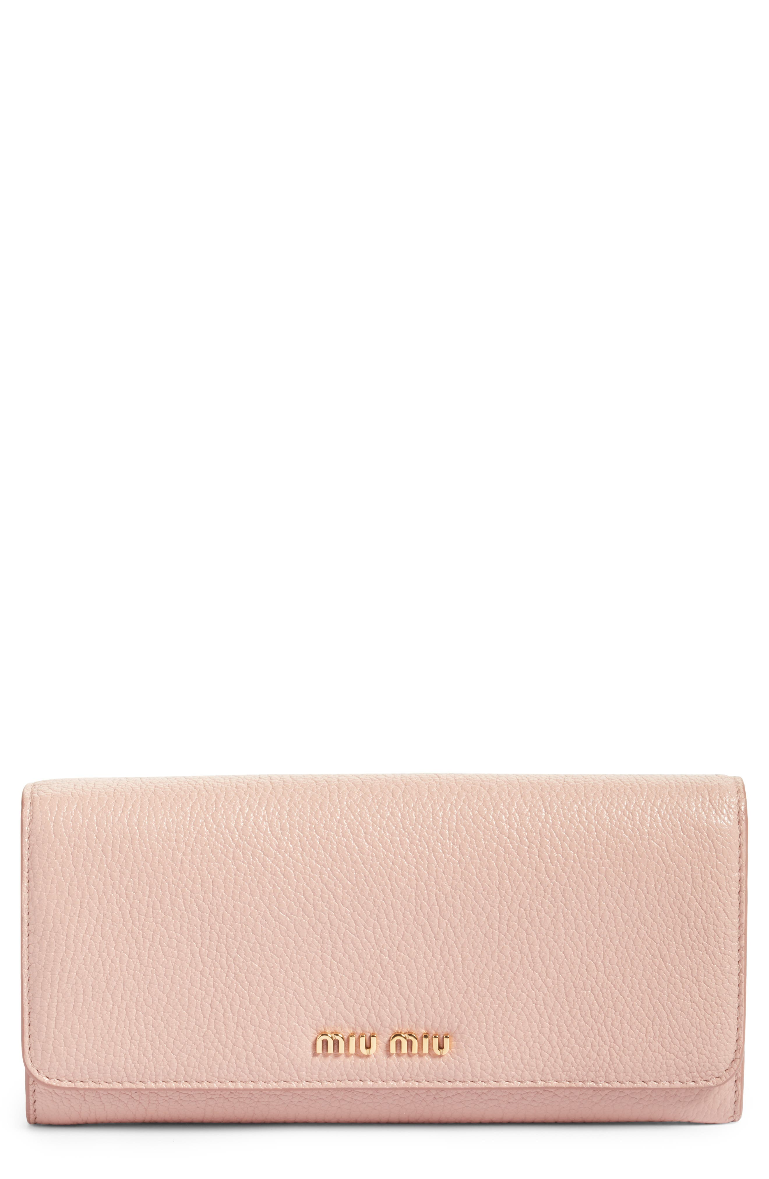Miu Miu Madras Leather Continental Wallet