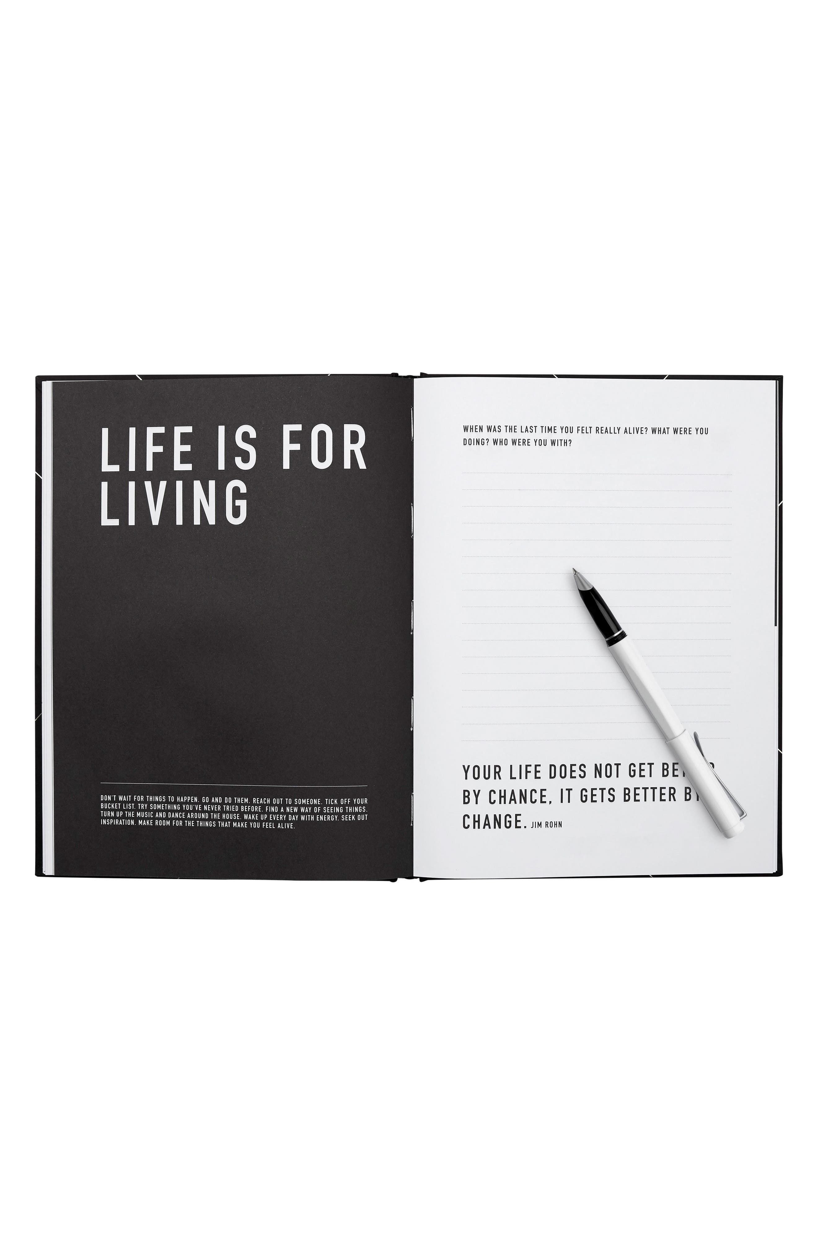 Create Your Life Plan: Life Essentials Book,                             Alternate thumbnail 2, color,                             Black/ Gold