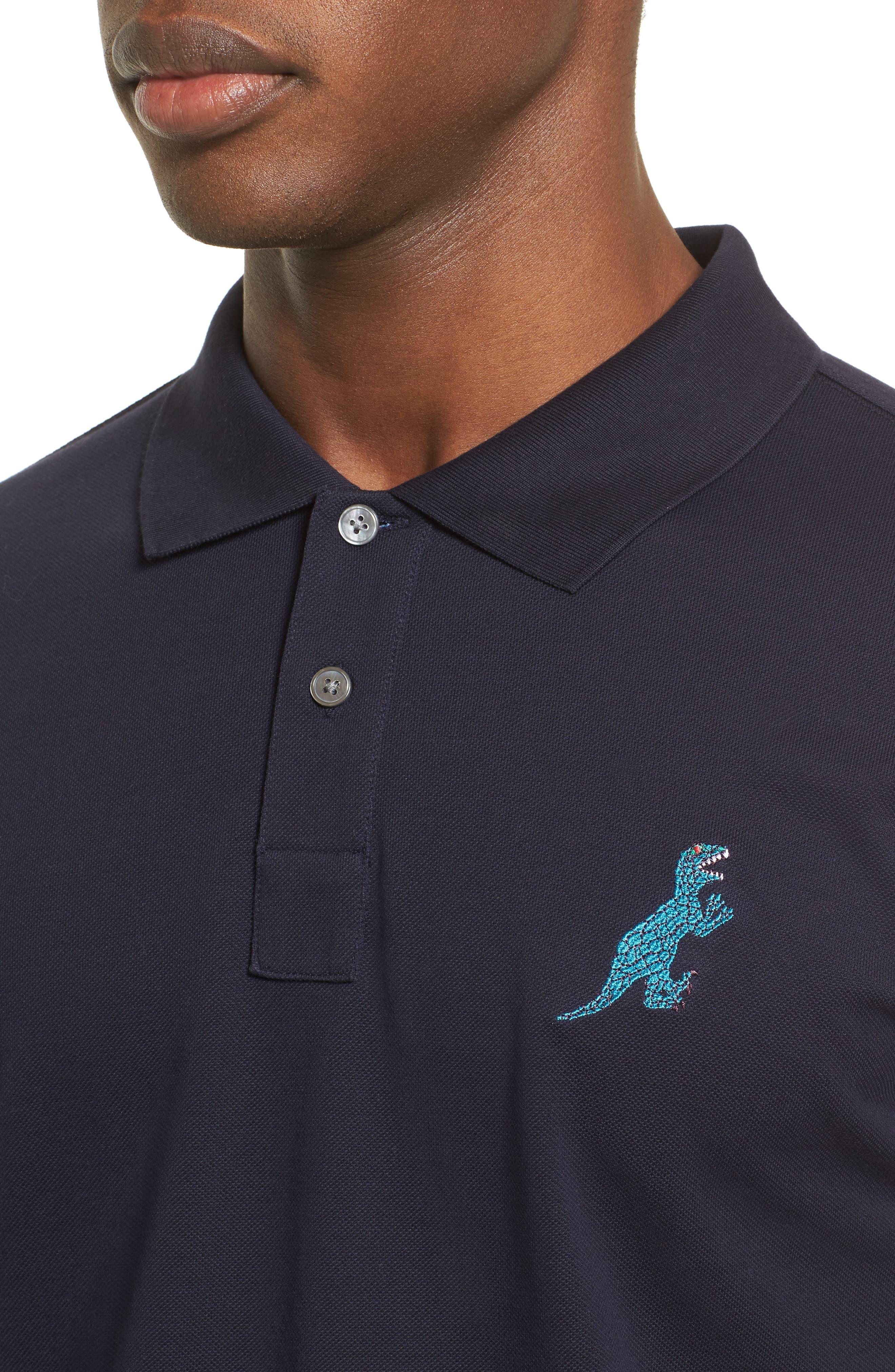 Alternate Image 4  - PS Paul Smith Dino Dino Embroidered Piqué Polo