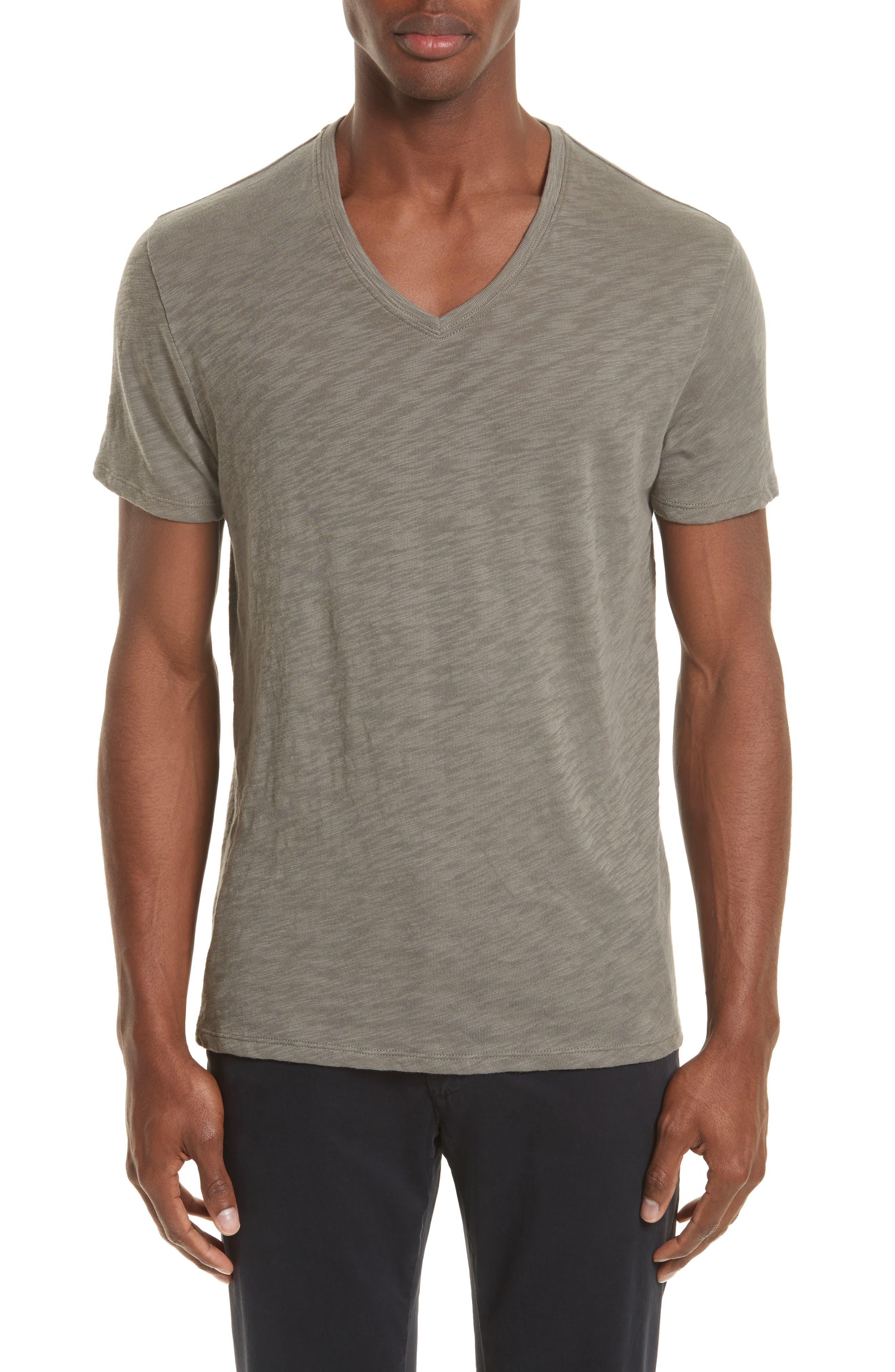 ATM Anthony Thomas Melillo Slub V-Neck T-Shirt