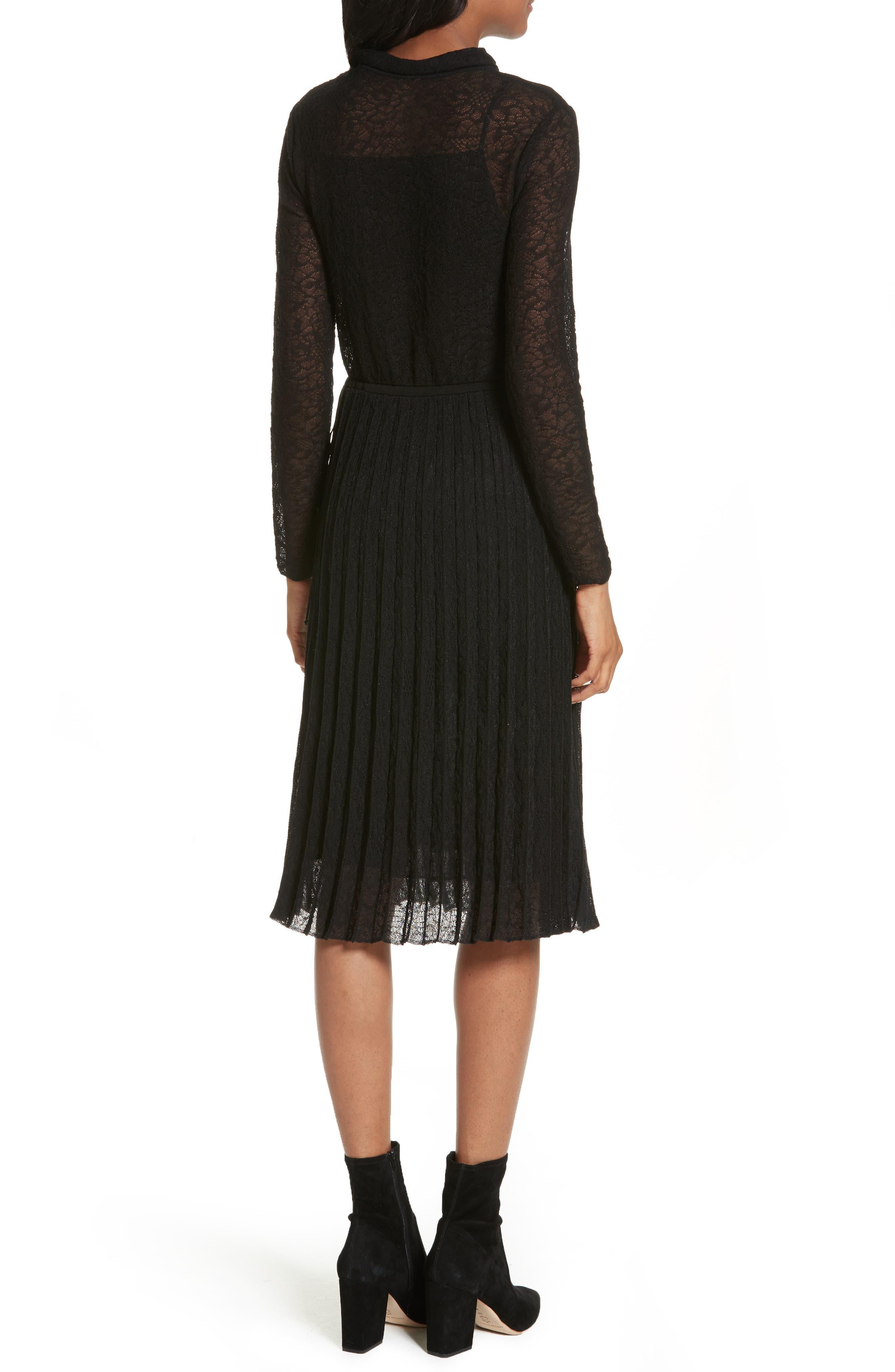 Alternate Image 2  - M Missoni Lace Plissé Pleated Midi Dress