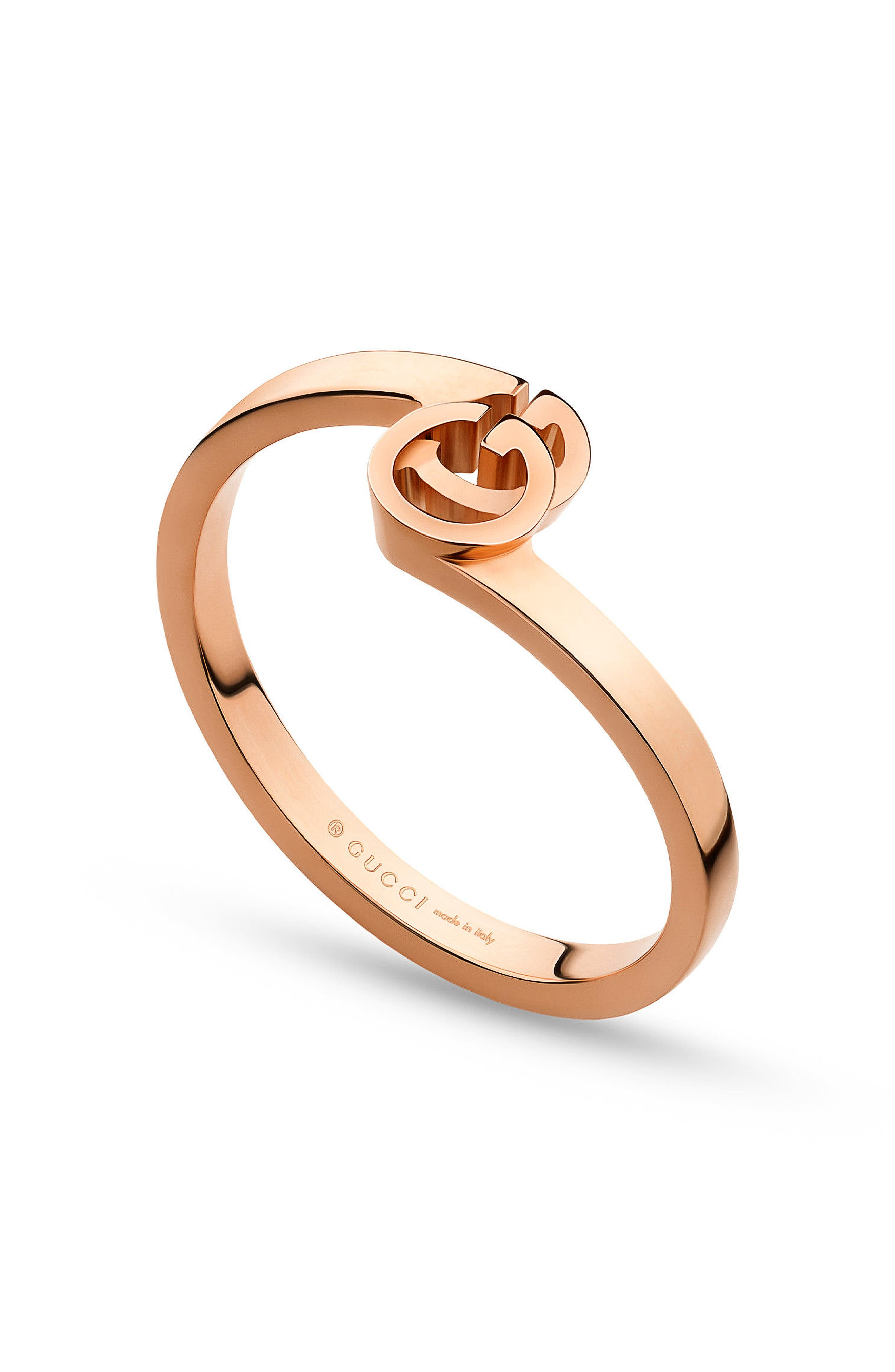 Double-G Stack Ring,                         Main,                         color, Rose Gold