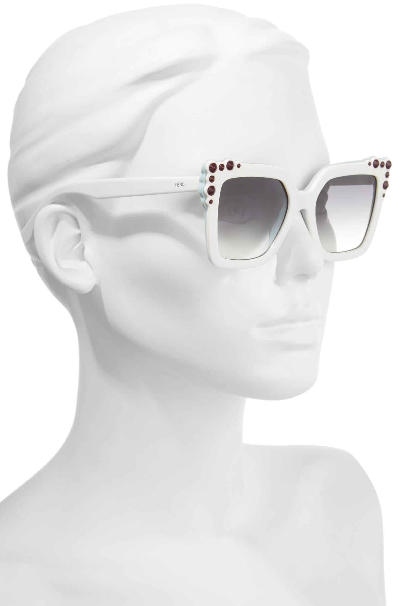 Alternate Image 2  - Fendi 52mm Gradient Cat Eye Sunglasses